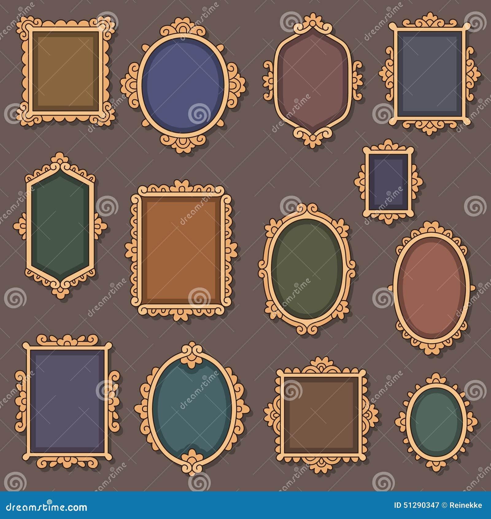 retro vignettes stock vector image 51290347. Black Bedroom Furniture Sets. Home Design Ideas