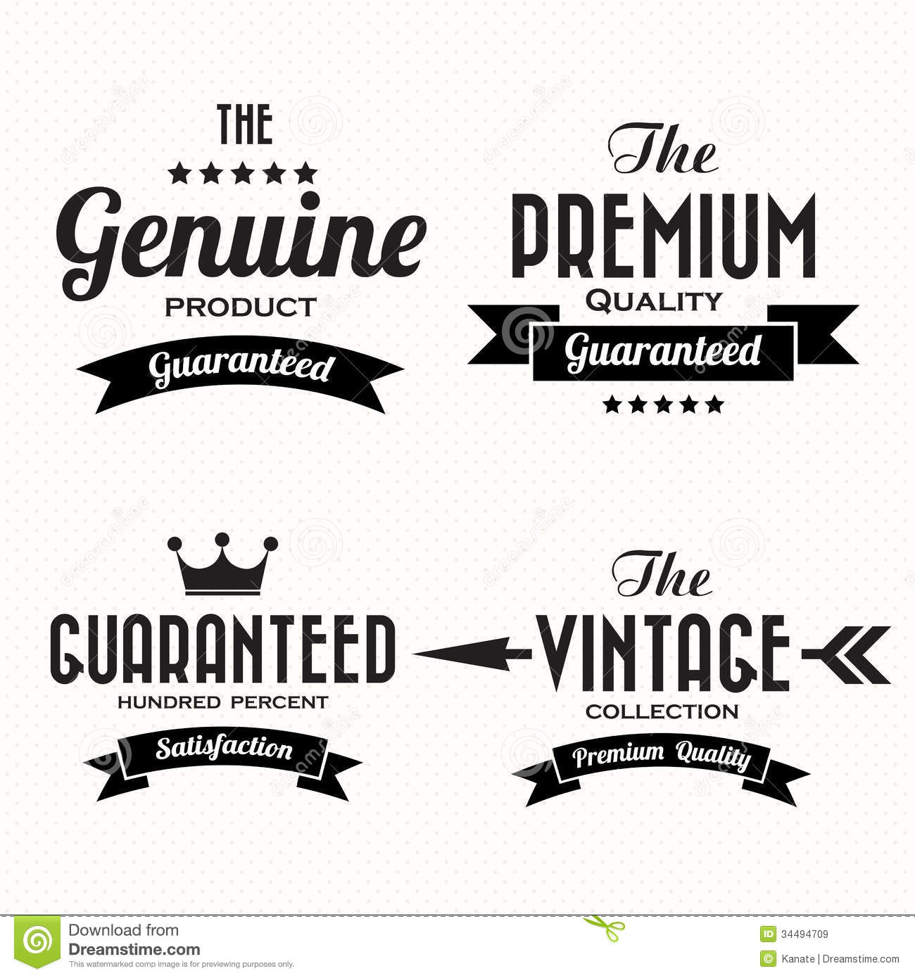 Retro Vintage Badges And Labels Royalty Free Stock Images - Image ...