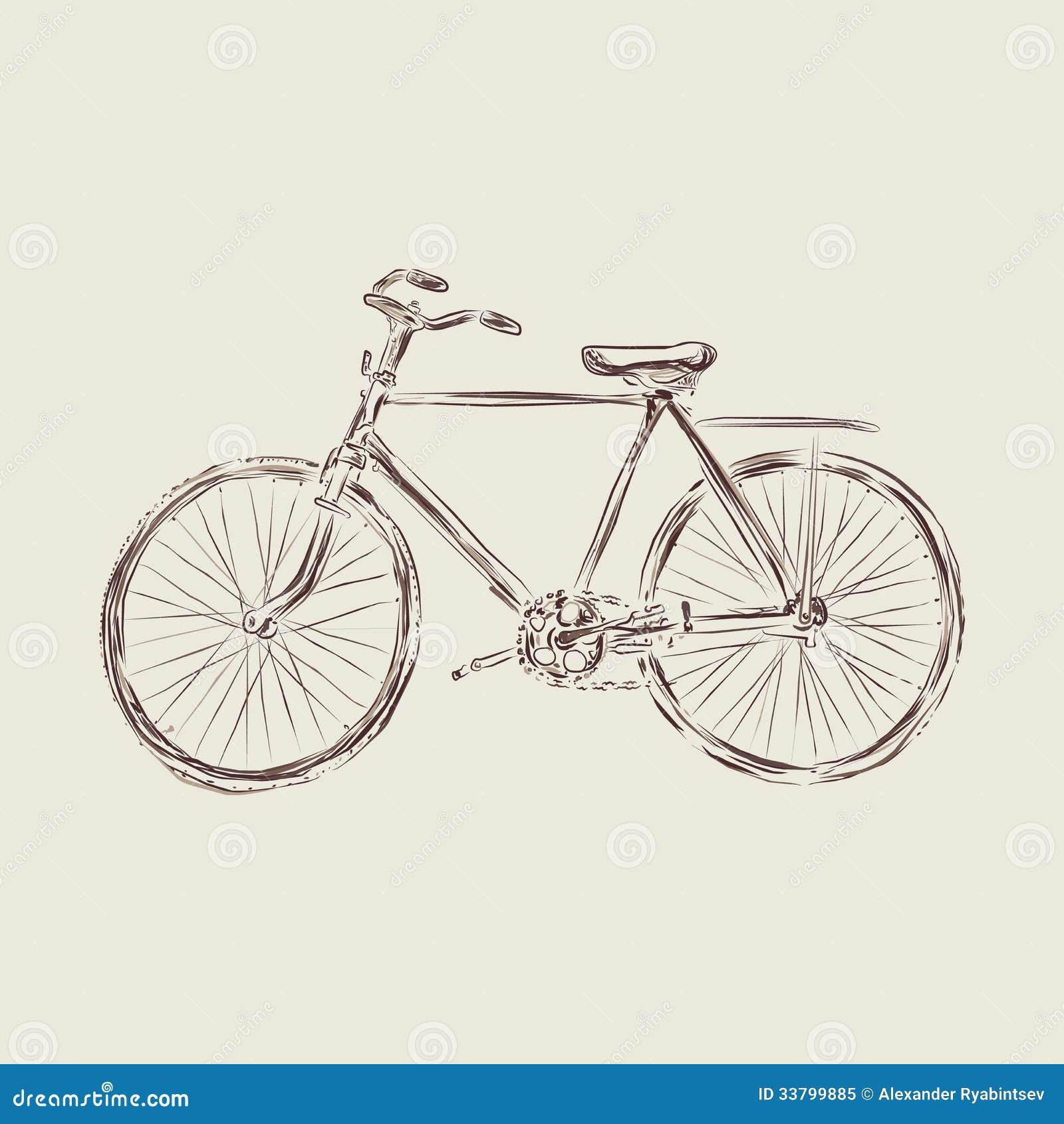 Retro Beach Illustration Royalty Free Stock Photo: Retro Vintage Bicycle Illustration Royalty Free Stock