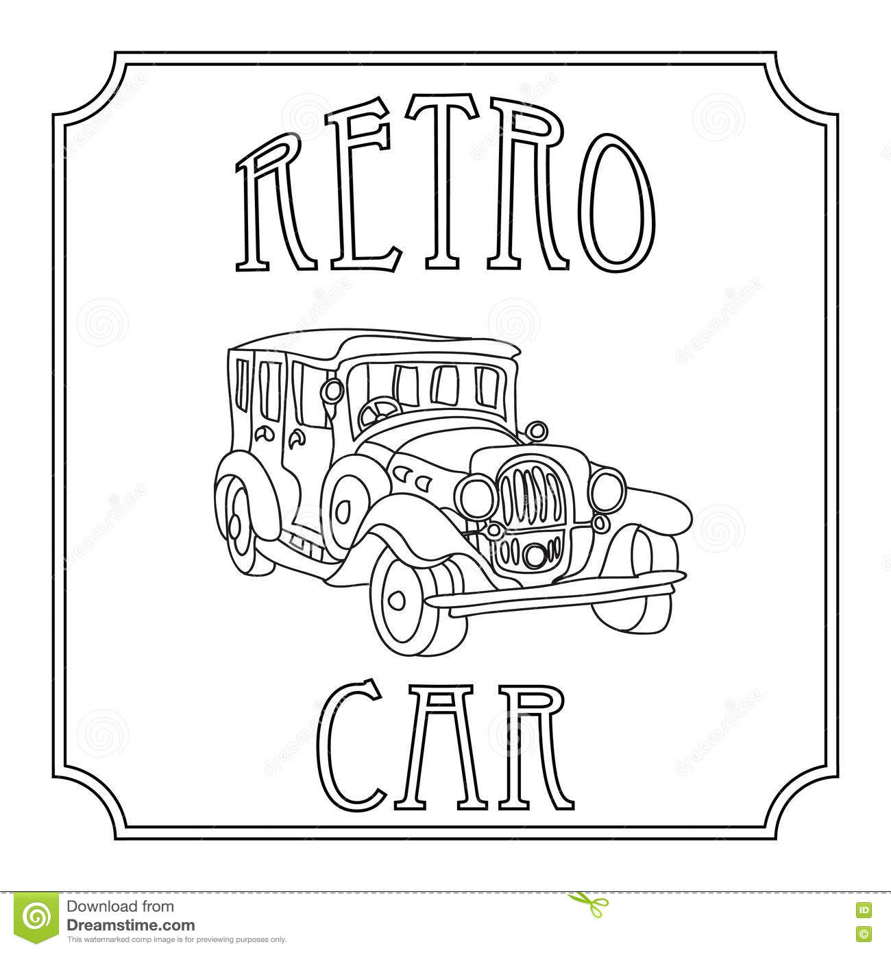 Coloring for adults cars - Coloring Pages For Adults Vintage Cars Retro Vintage Cars Coloring Page Isolated On White