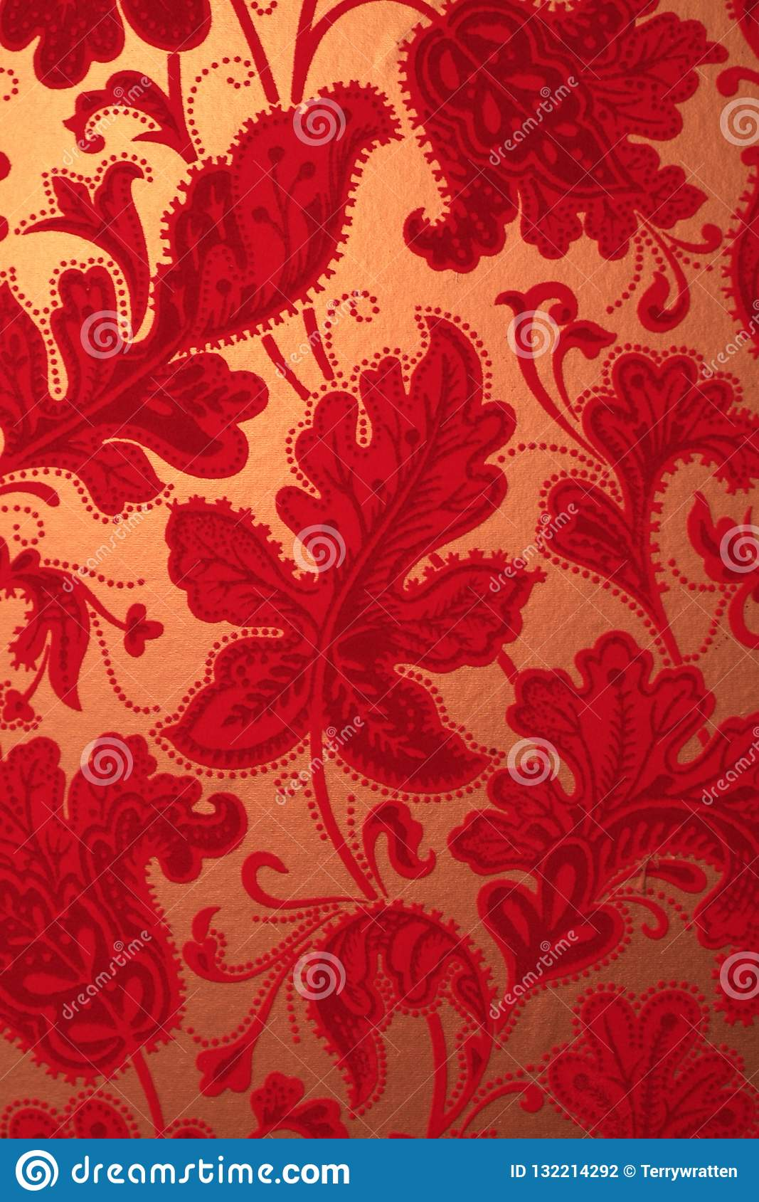 Retro Vintage Red Velvet Textured Wallpaper Stock Photo Image Of