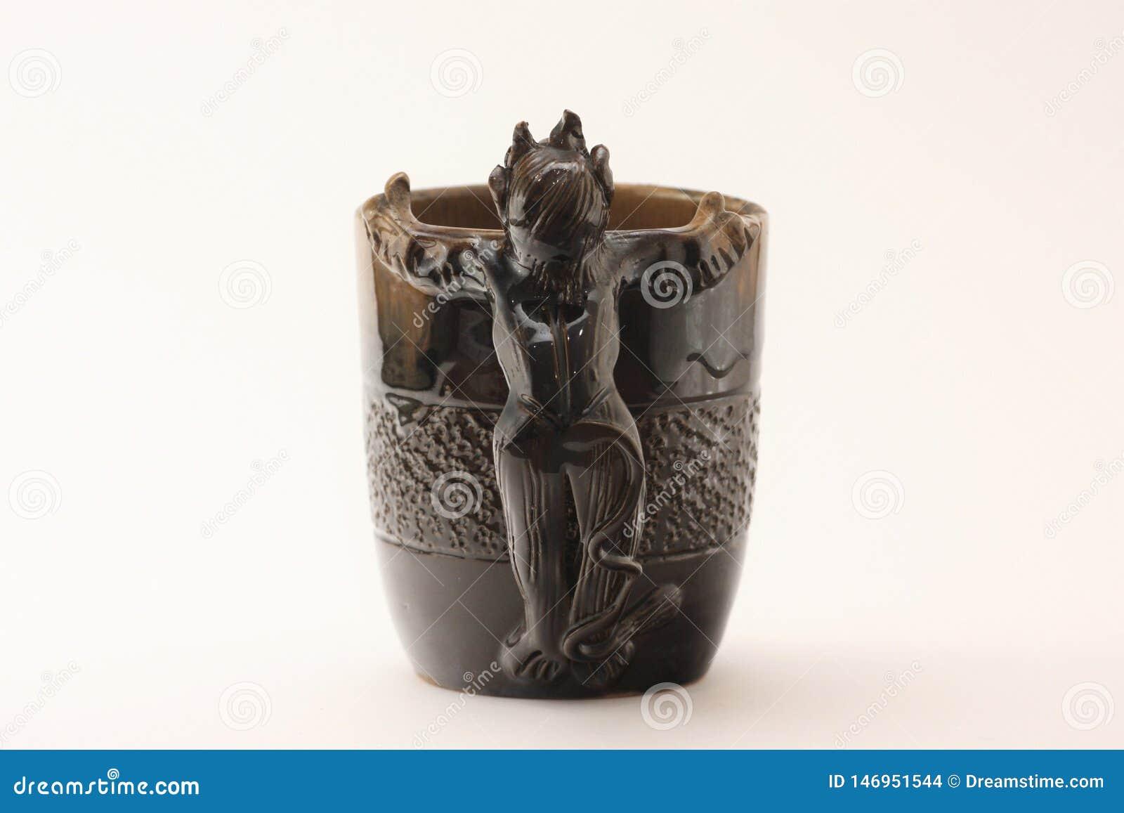 Vintage soviet USSR devil cup - bakcview