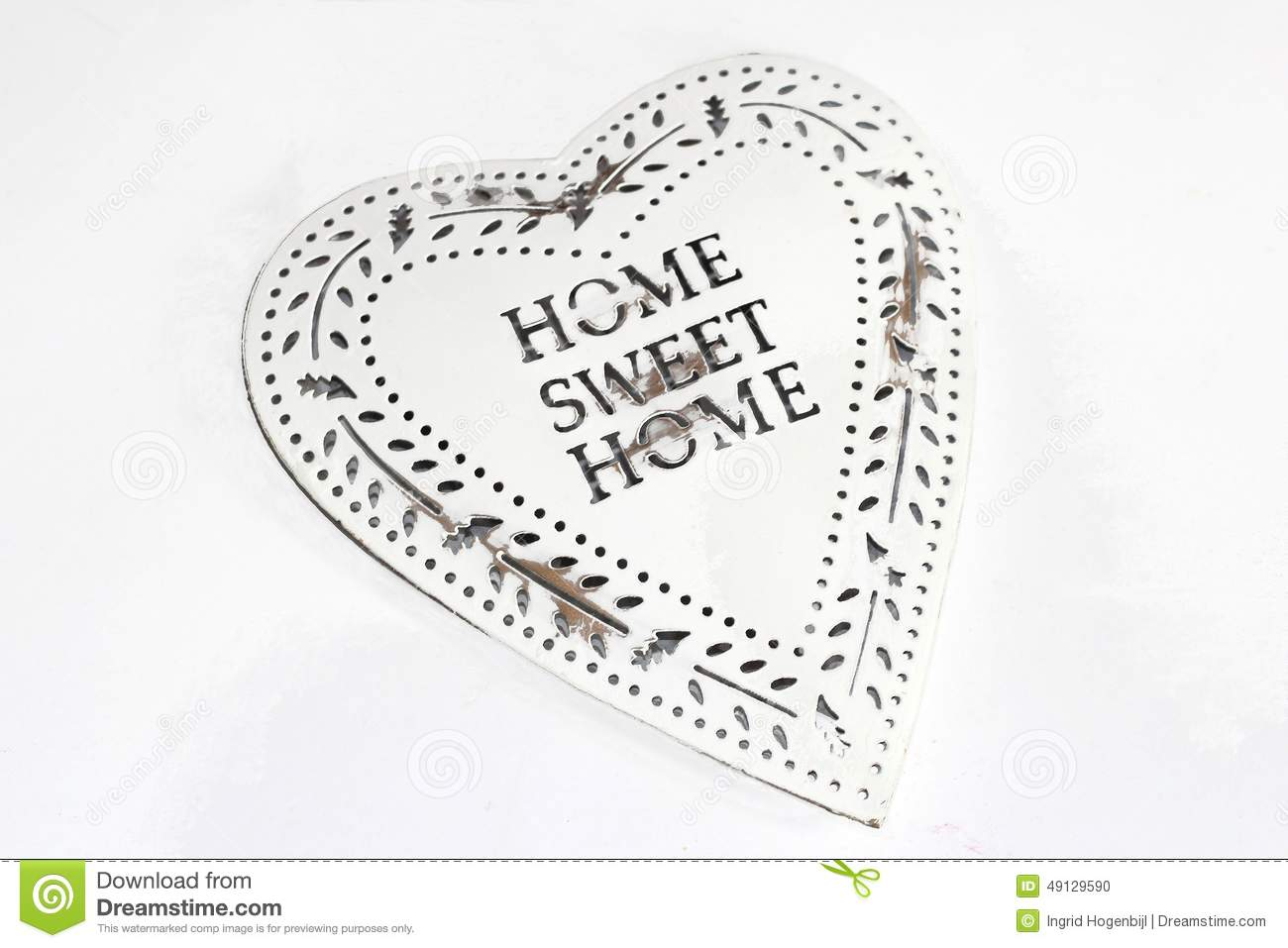 Retro vintage style heart, Home Sweet Home
