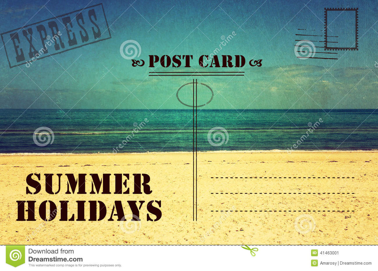 summer postcard stock images image 15341524 retro vintage summer holidays vacation postcard stock image