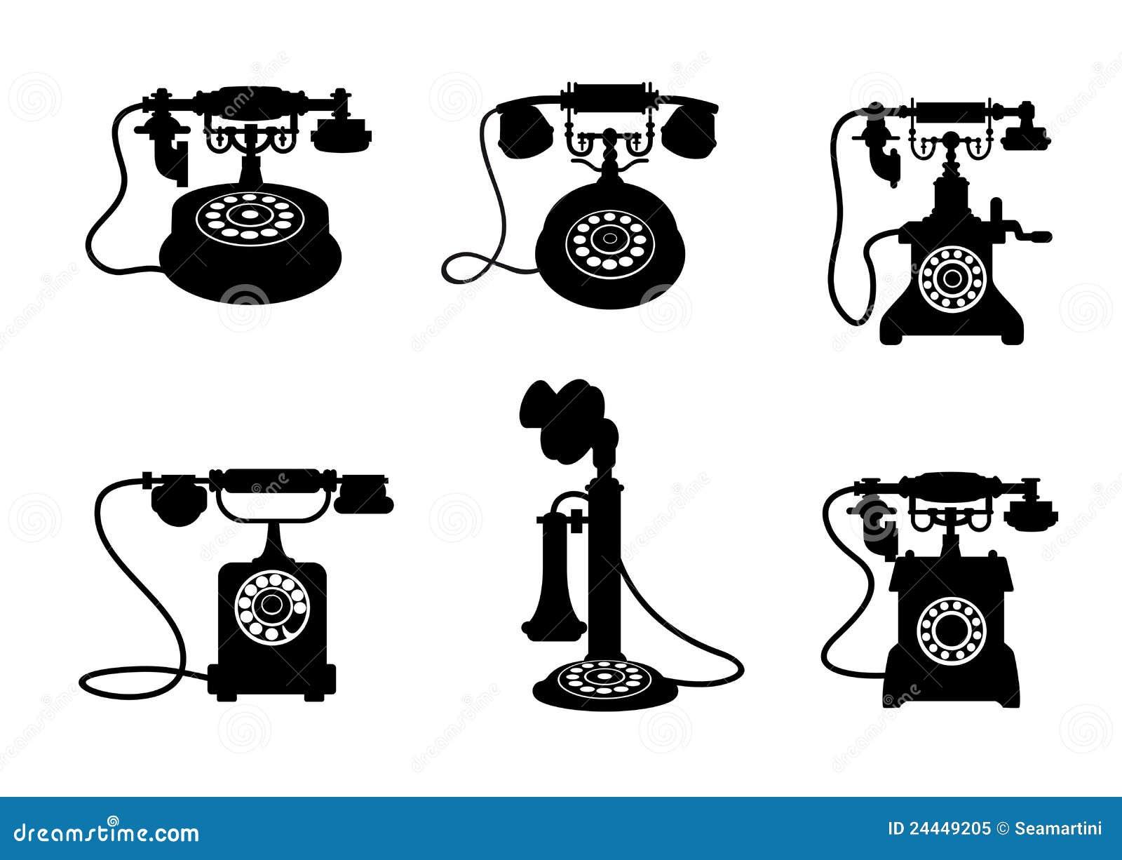 retro and vintage telephones royalty free stock photo
