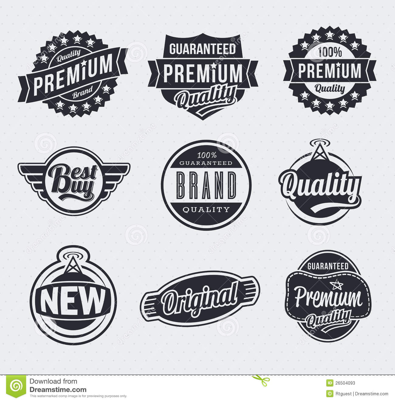 Retro Vintage Vector Labels Stock Photos - Image: 26504093