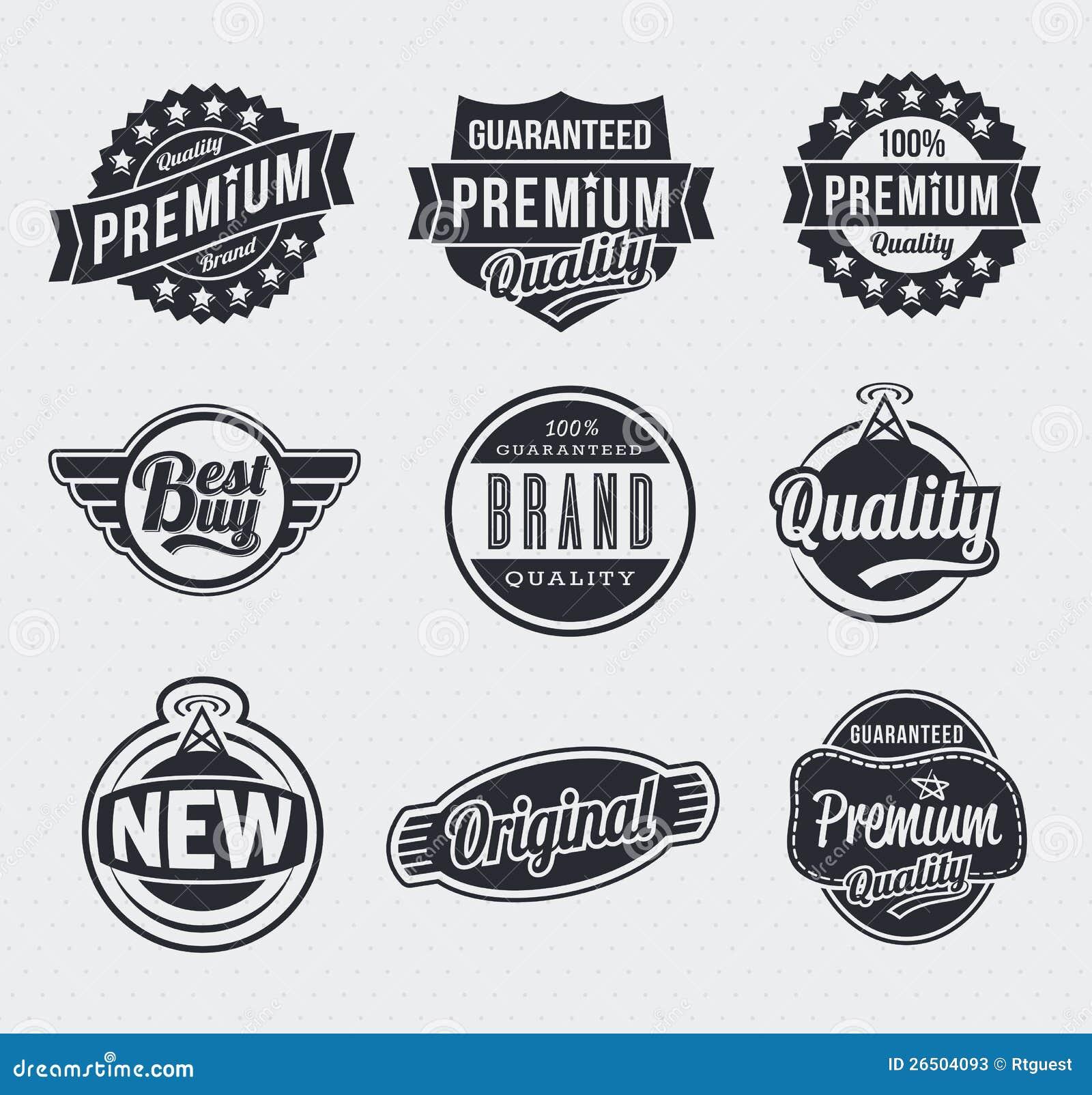 Retro Vintage Vector Labels Stock Photos Image 26504093