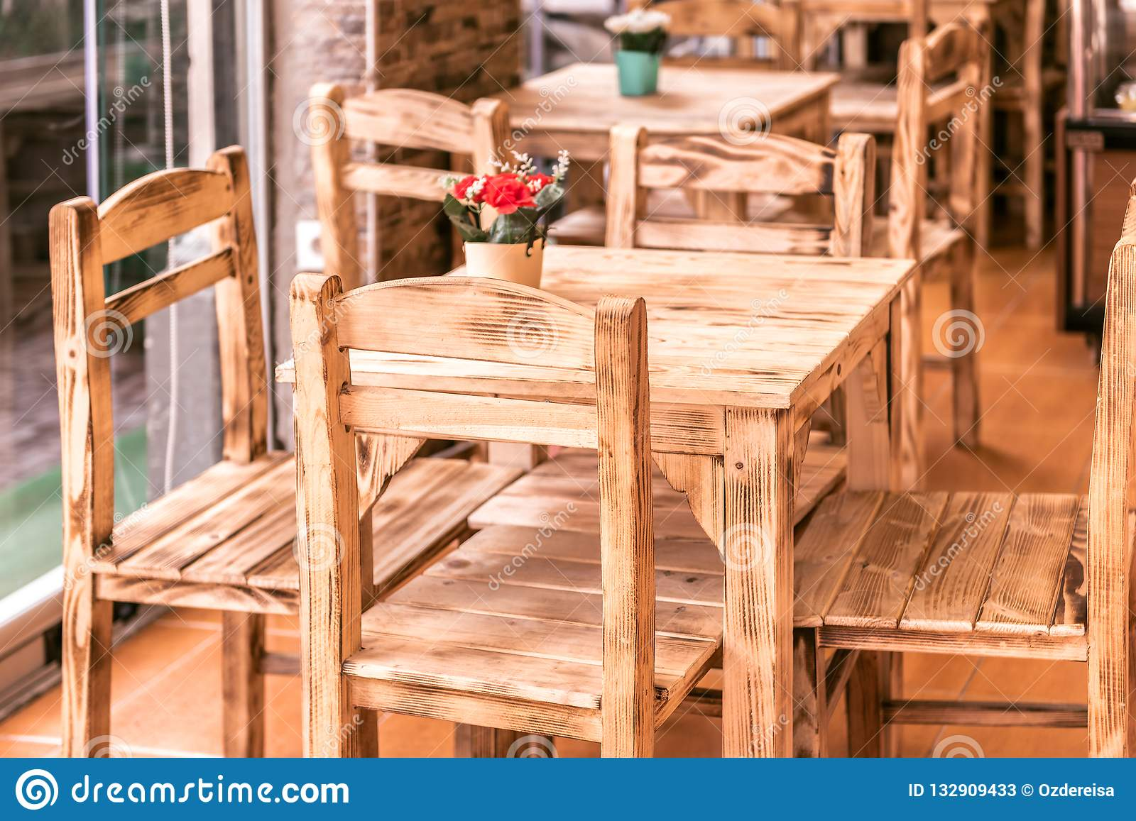 Awesome Old Wooden Cafe Chair