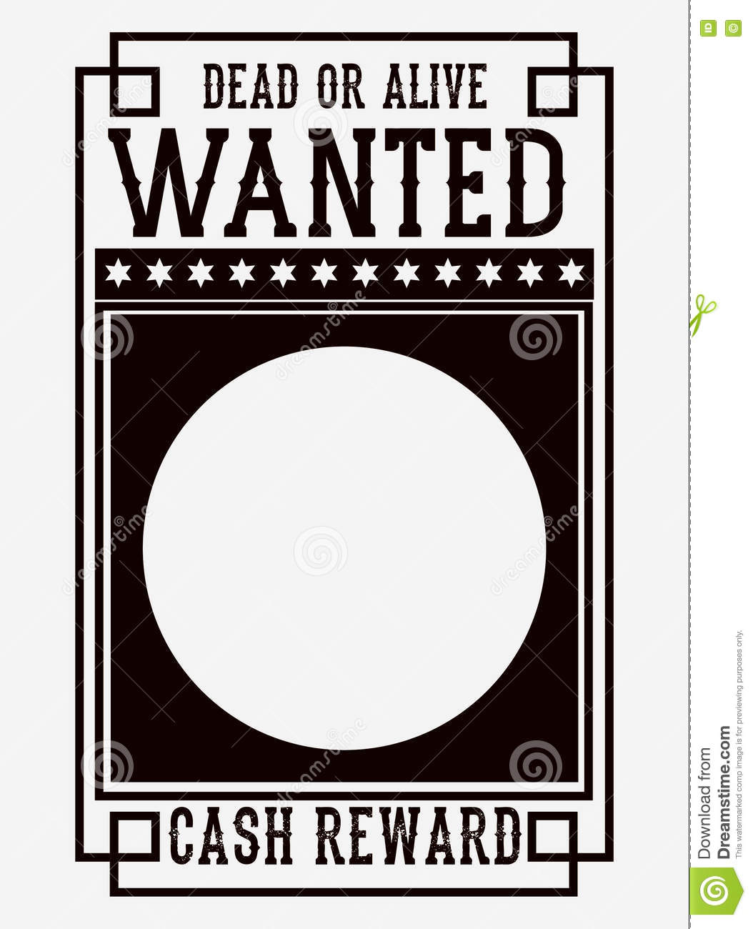 Retro And Vintage Wanted Poster Design Stock Vector Illustration
