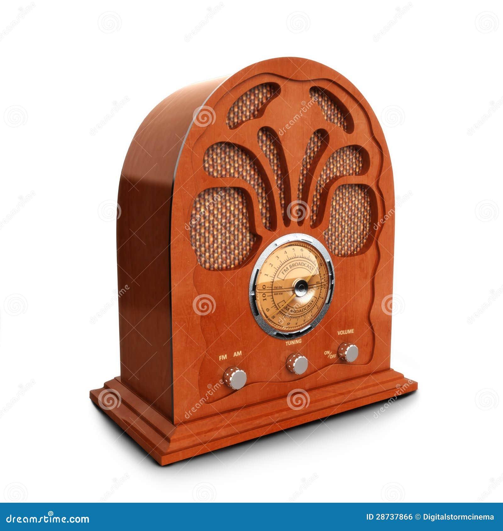 retro vintage wood radio stock illustration image of knobs 28737866. Black Bedroom Furniture Sets. Home Design Ideas