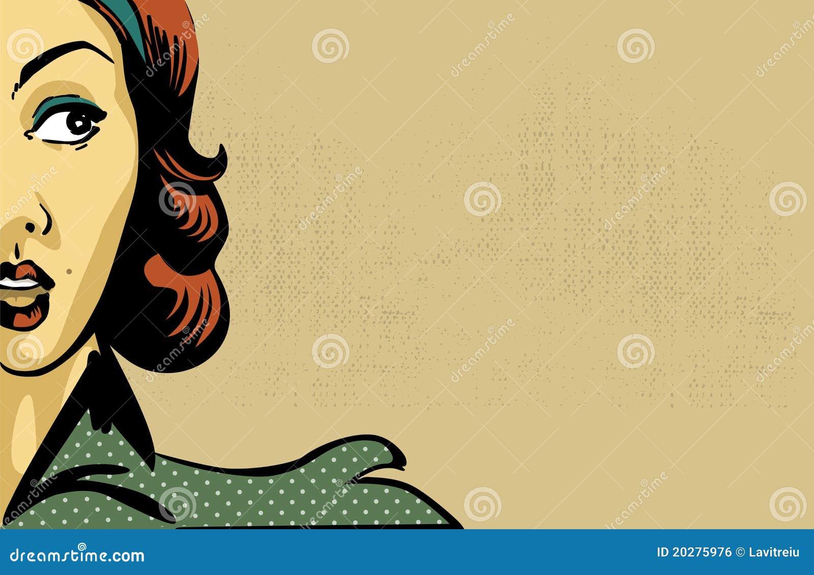 Esstisch Retro Style ~ Retro Vrouw Royaltyvrije Stock Afbeelding  Afbeelding 20275976