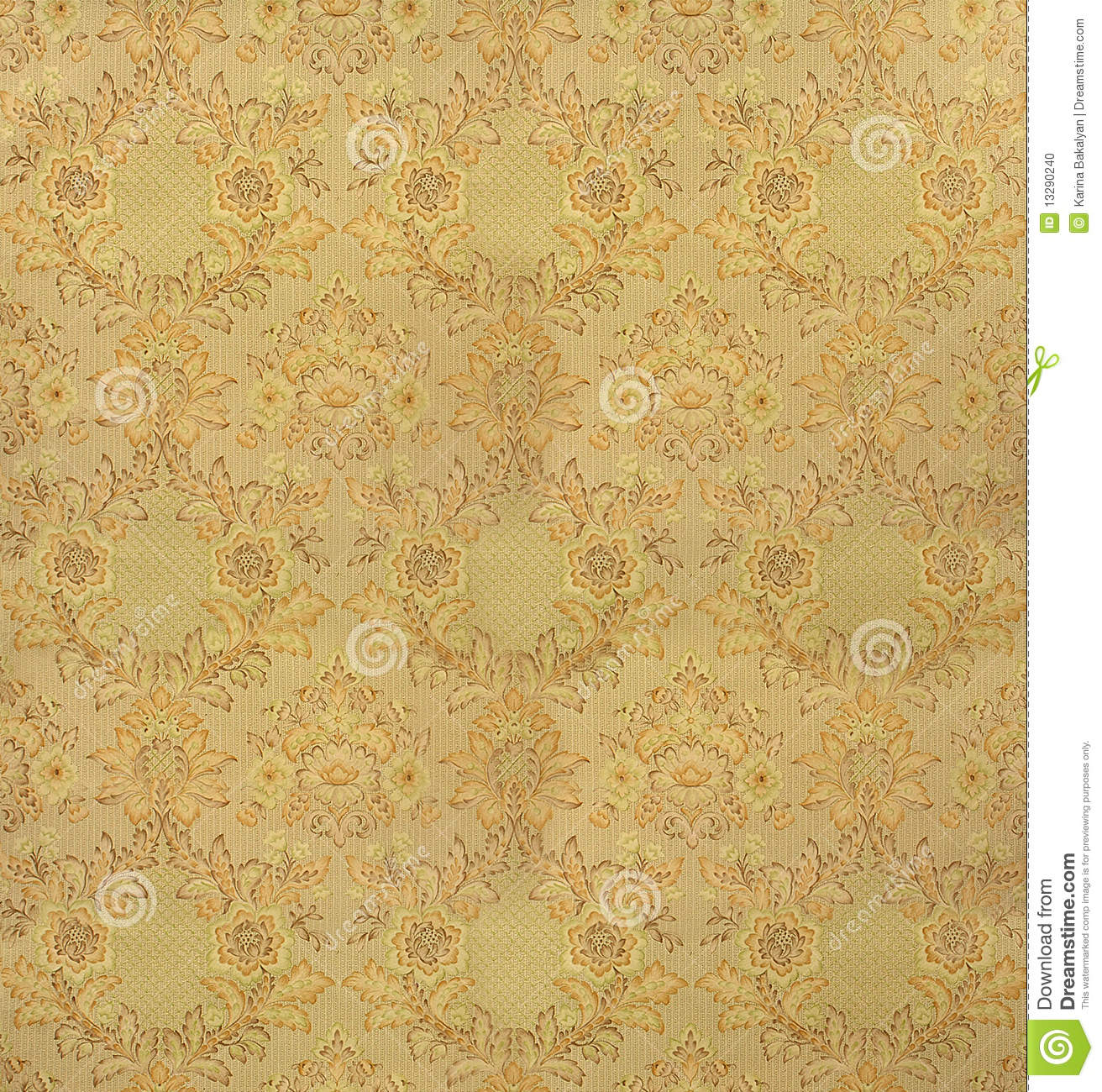 Retro Wallpaper Stock Photo Image Of Flower Paper Antique