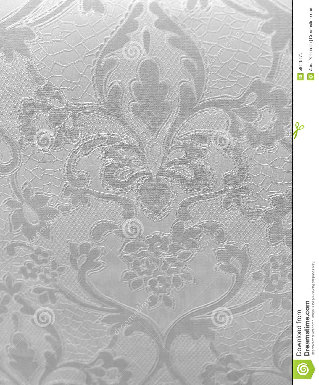 Retro Wallpaper Stock Image Image Of Busy Floral Aged 68118173