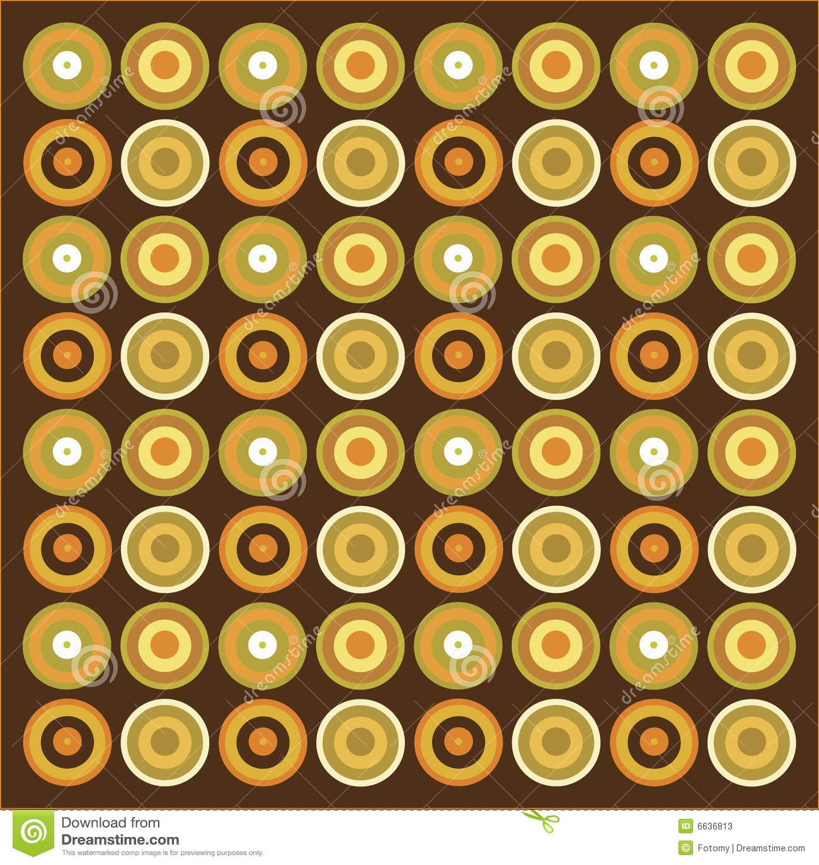 Retro Wallpaper Pattern Royalty Free Illustration