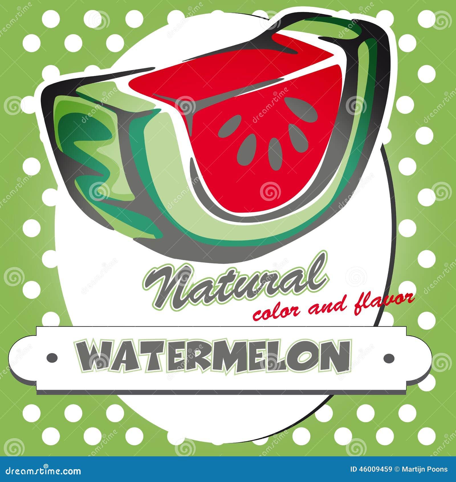 Retro Watermelon Poster Stock Vector - Image: 46009459
