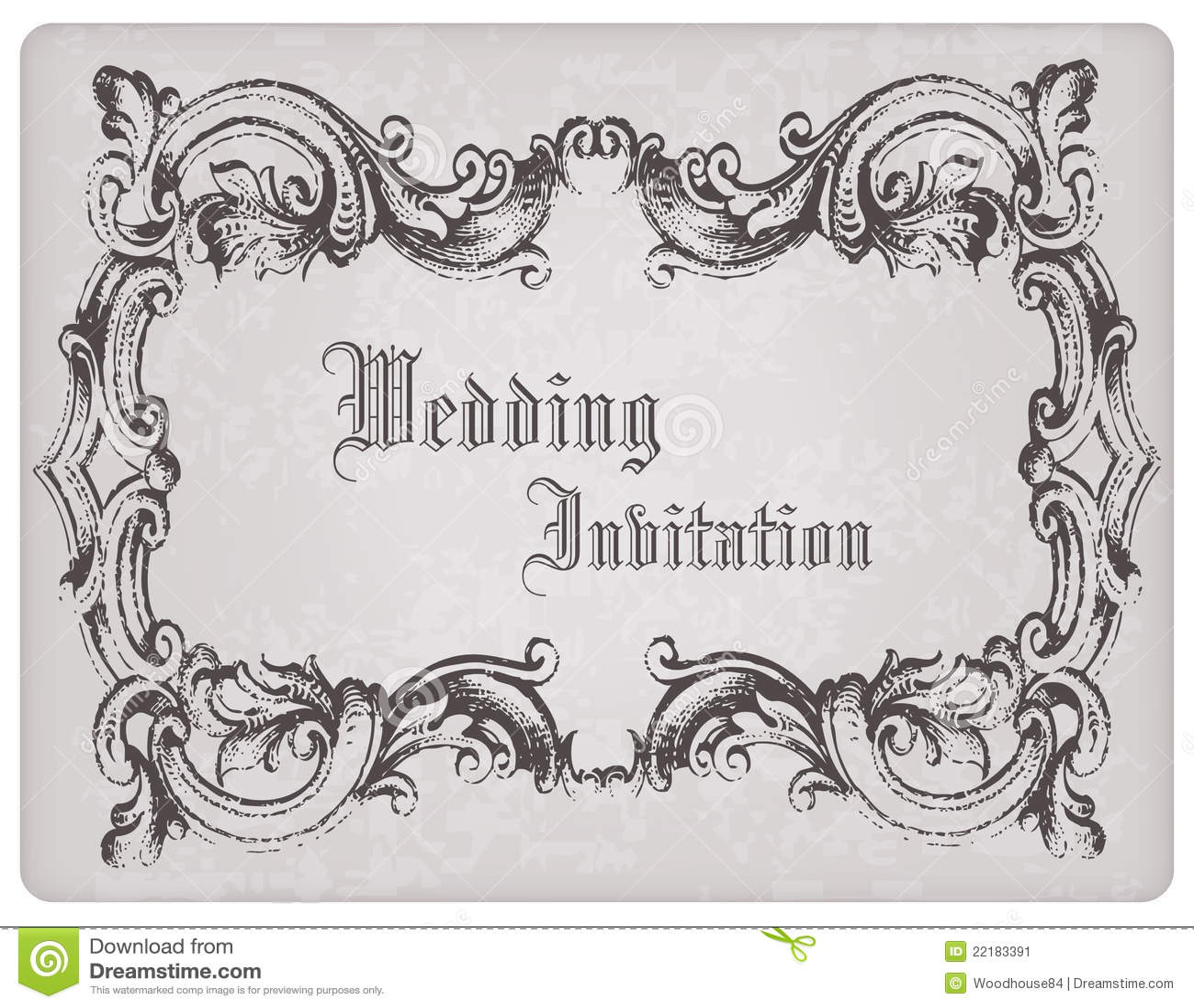 retro wedding invitation postcard with frame stock photography on wedding invitation photo frame