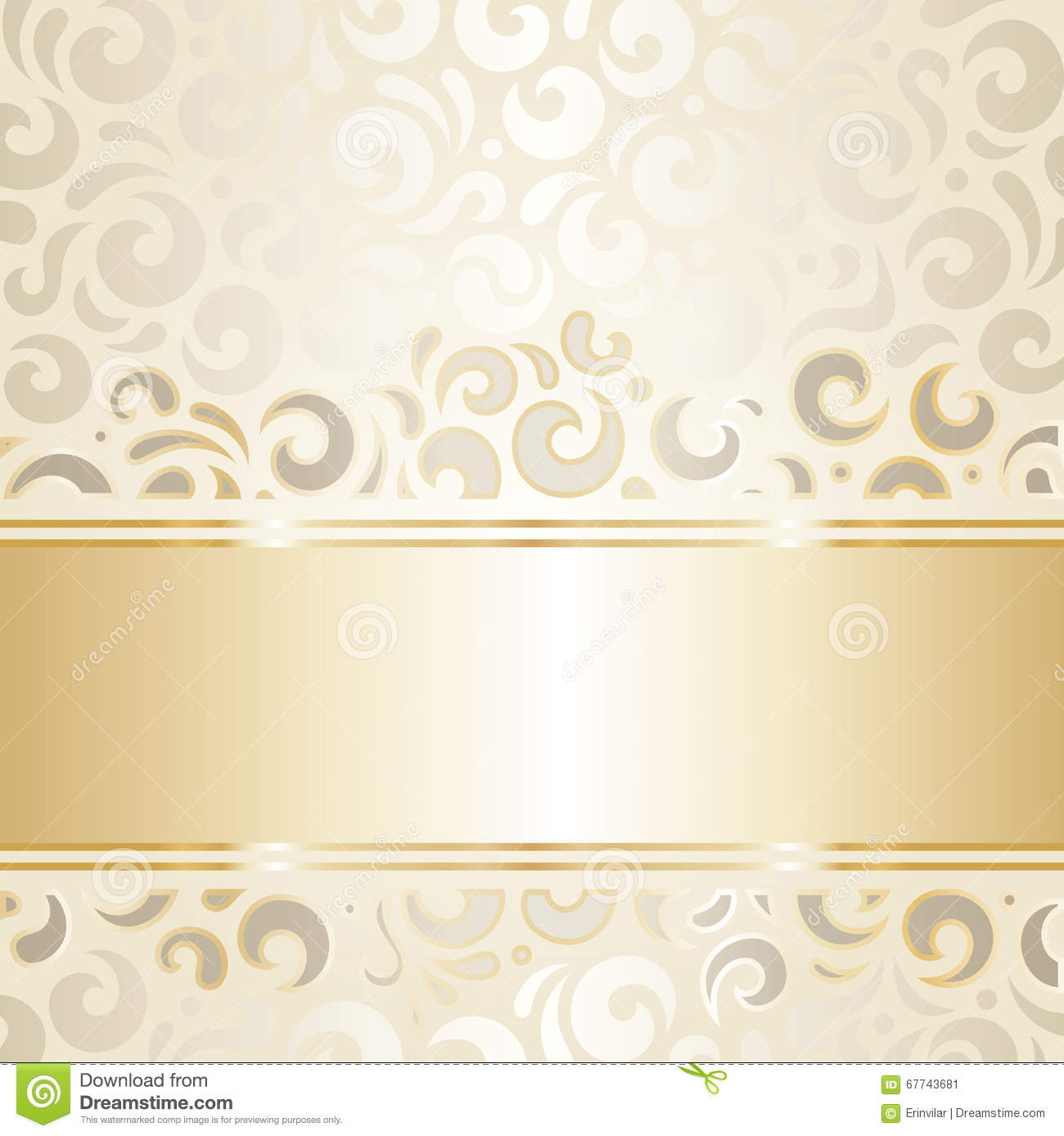 Retro Wedding Wallpaper Design Ecru Gold