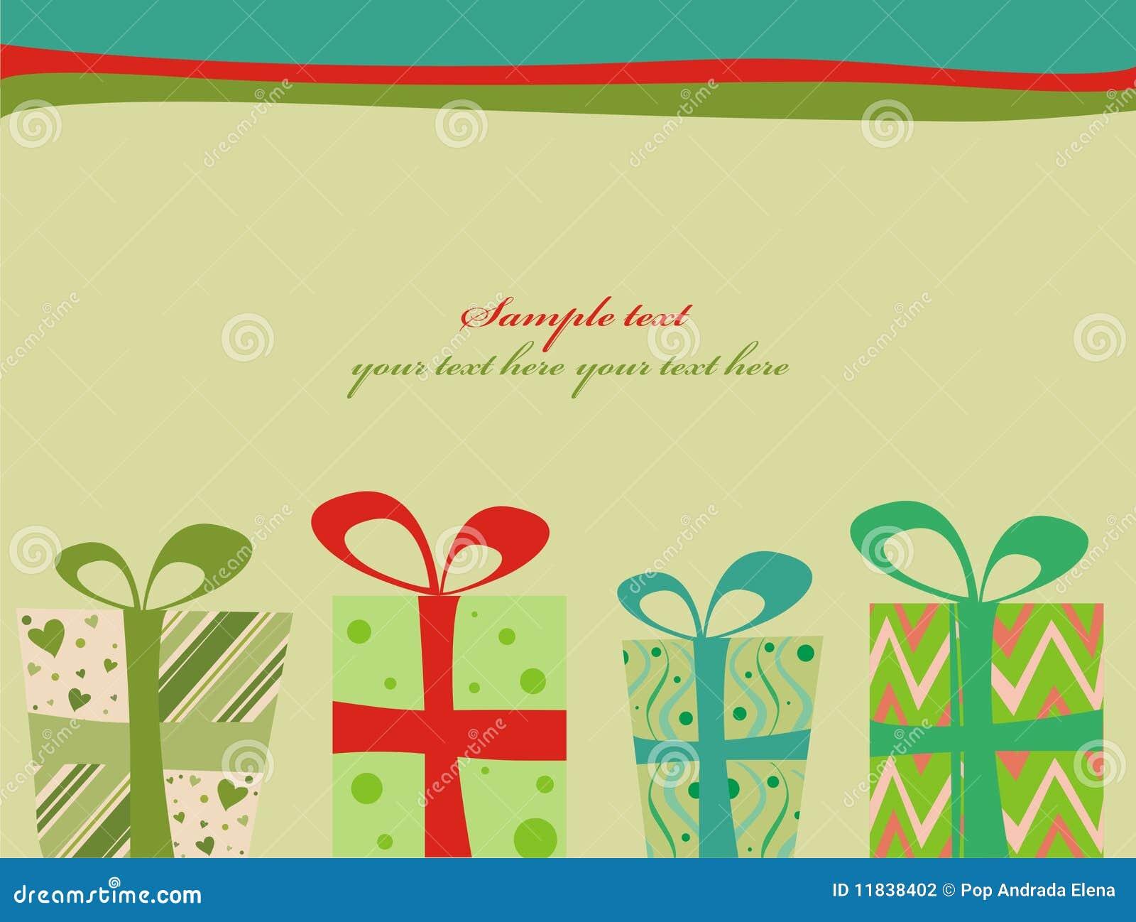Retro- Weihnachtsgeschenke vektor abbildung. Illustration von ...