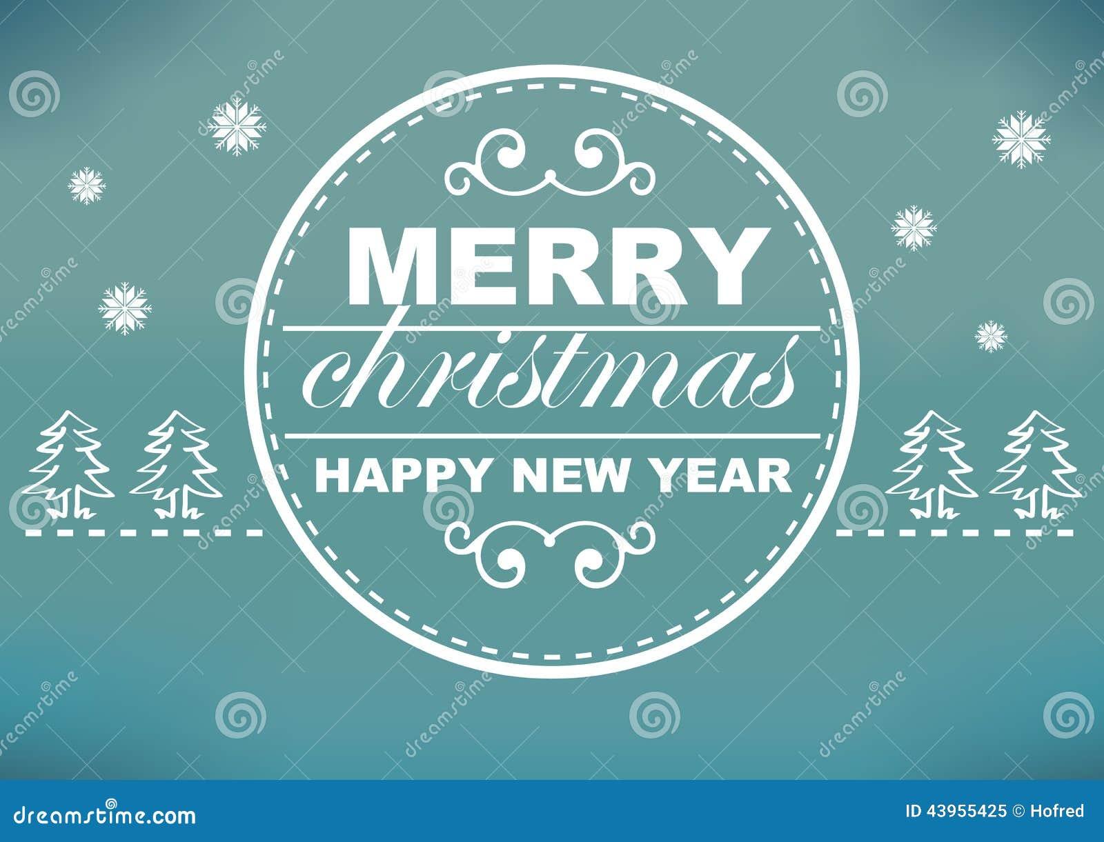 Retro weihnachtskarten design mit cyan blauem und wei em - Designer weihnachtskarten ...