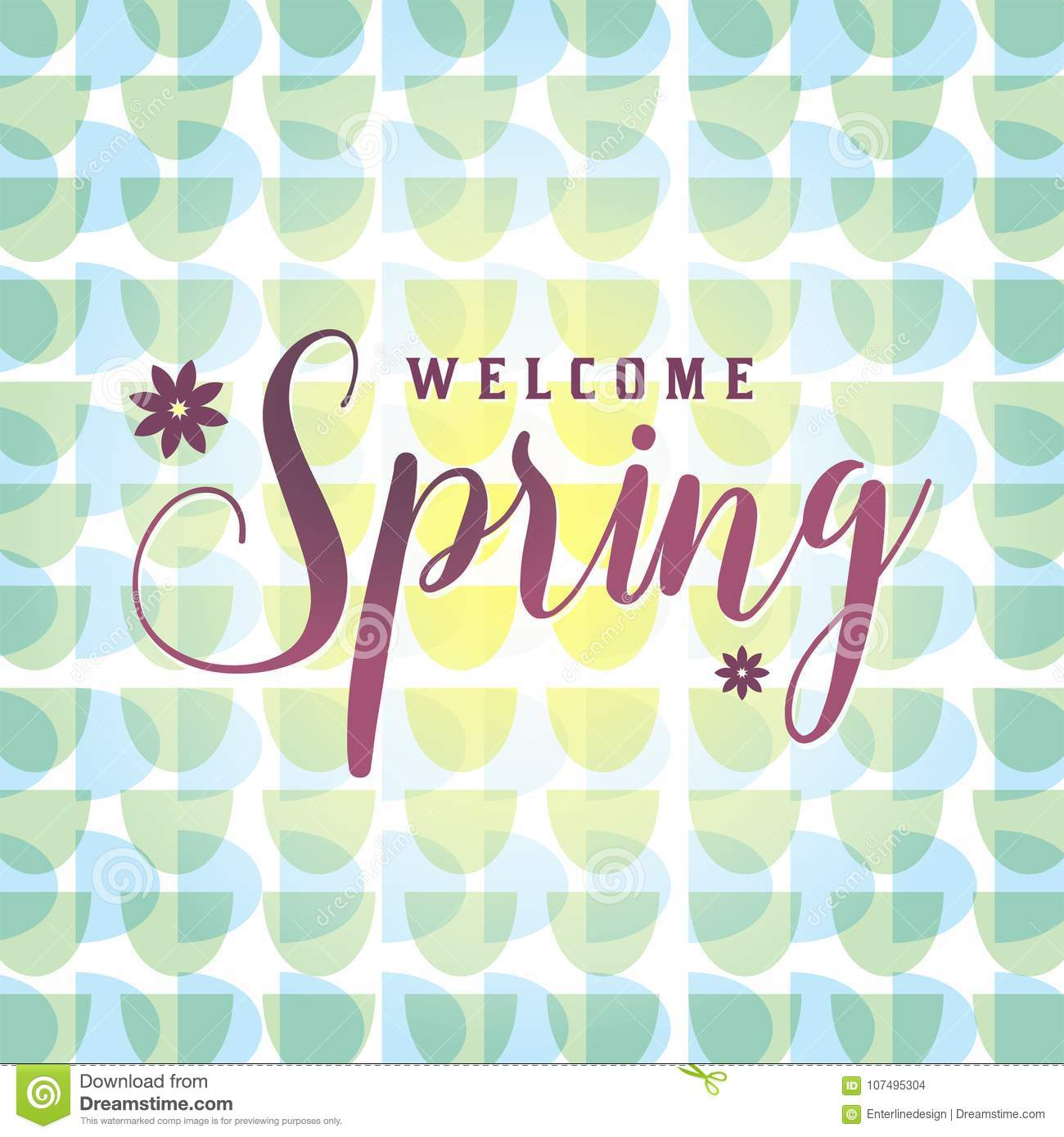 Retro welcome spring illustration stock vector illustration of retro welcome spring illustration m4hsunfo