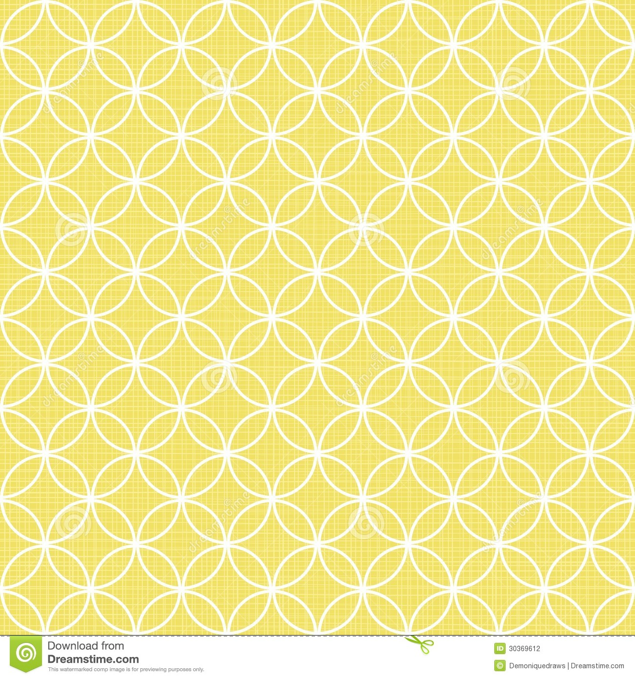 Retro White Circles In Rows On Sunny Yellow Stock ...