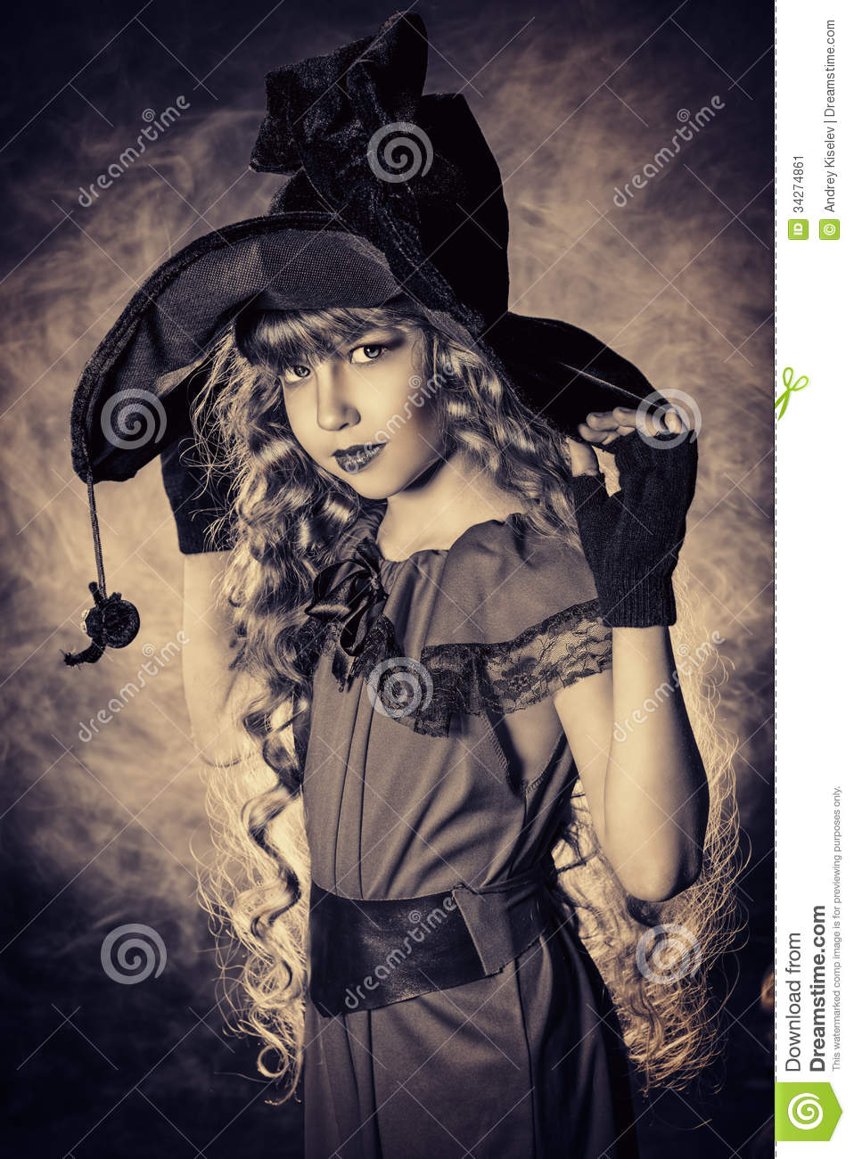 Retro Witch Stock Image - Image: 34274861