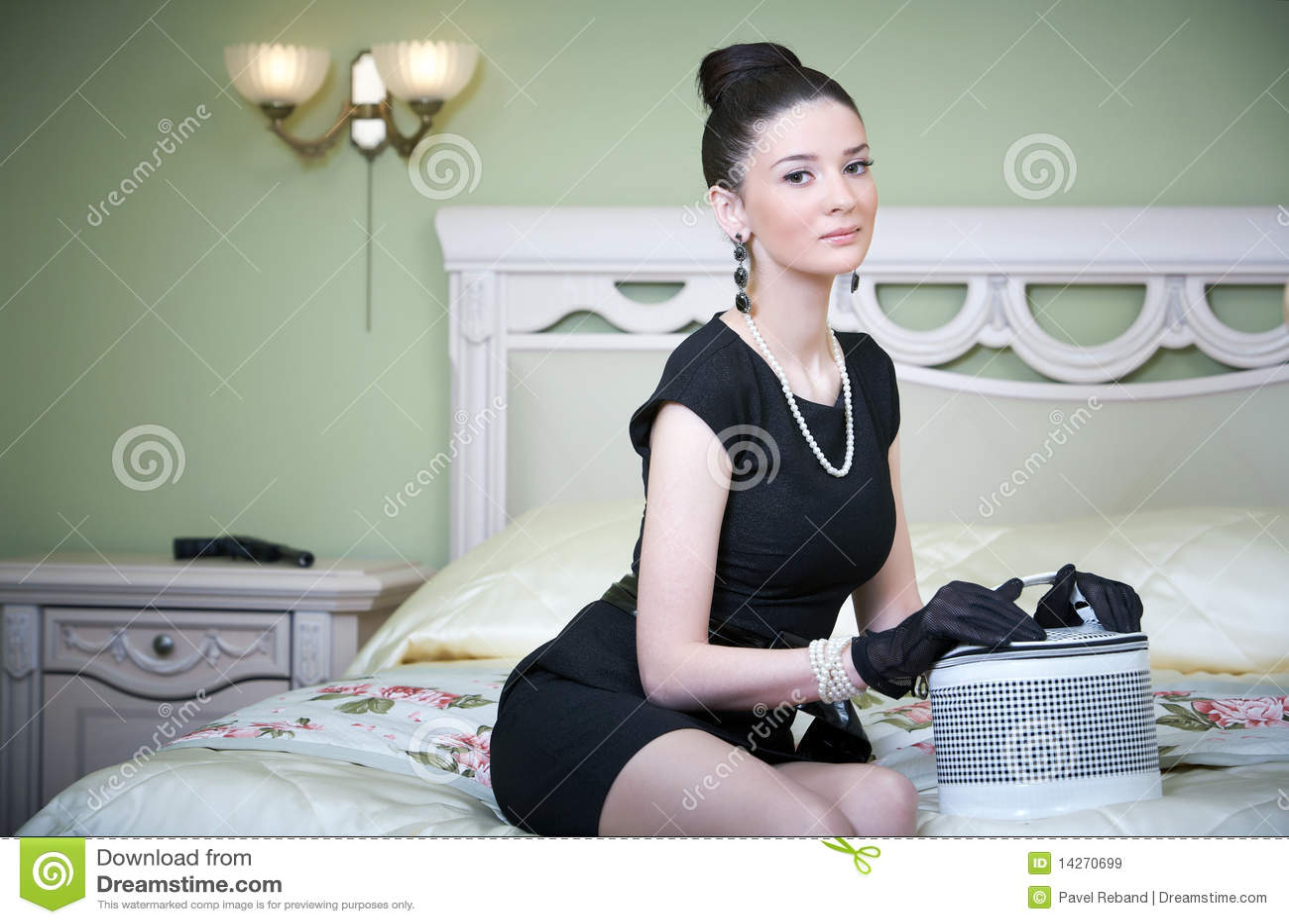 Retro woman posing