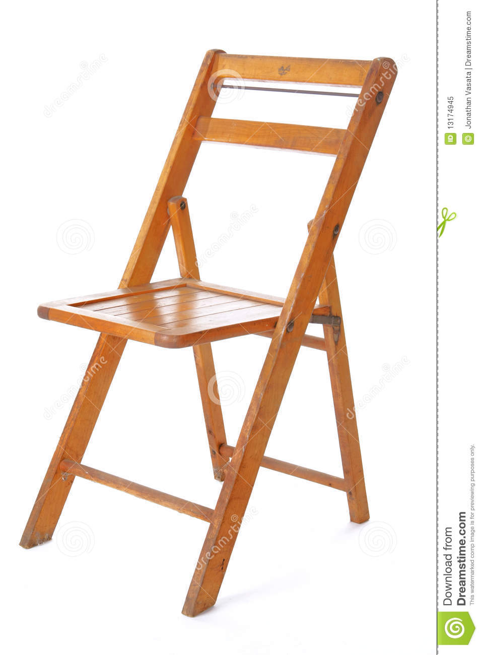 Retro Wooden Folding Chair Royalty Free Stock Photo