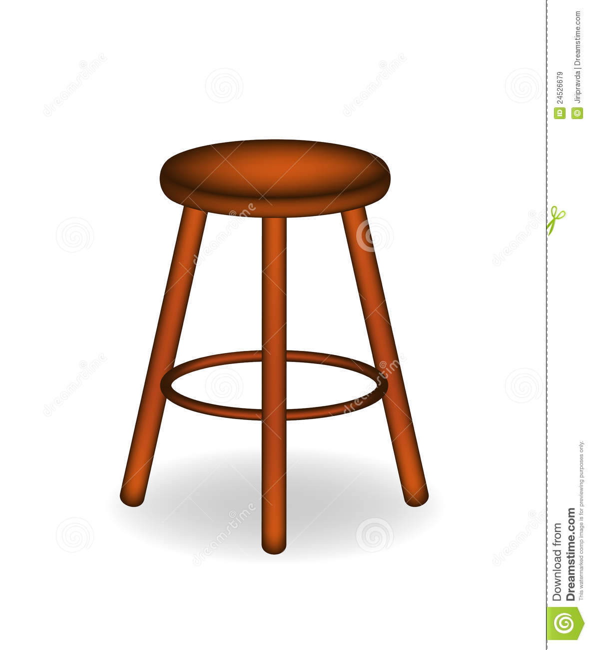 Wonderful image of Retro Wooden Stool Royalty Free Stock Images Image: 24526679 with #461D06 color and 1183x1300 pixels
