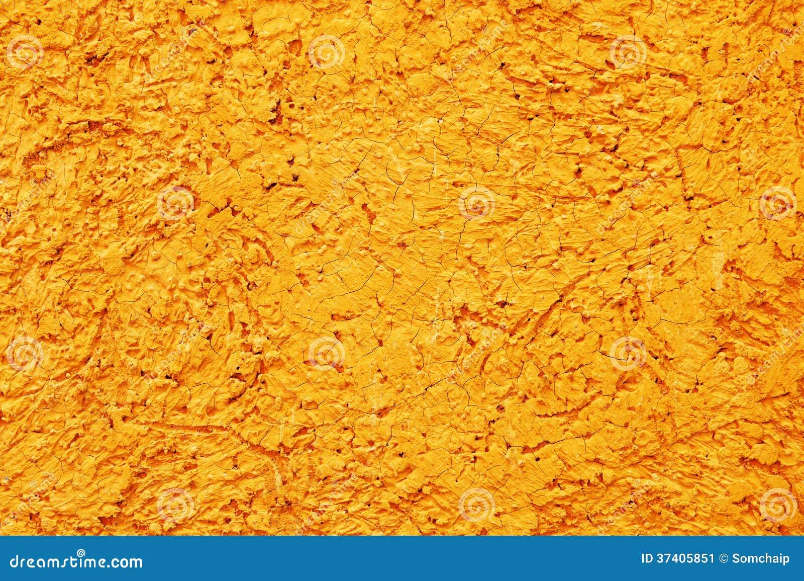 Retro Yellow Concrete Wall Background Stock Image Image