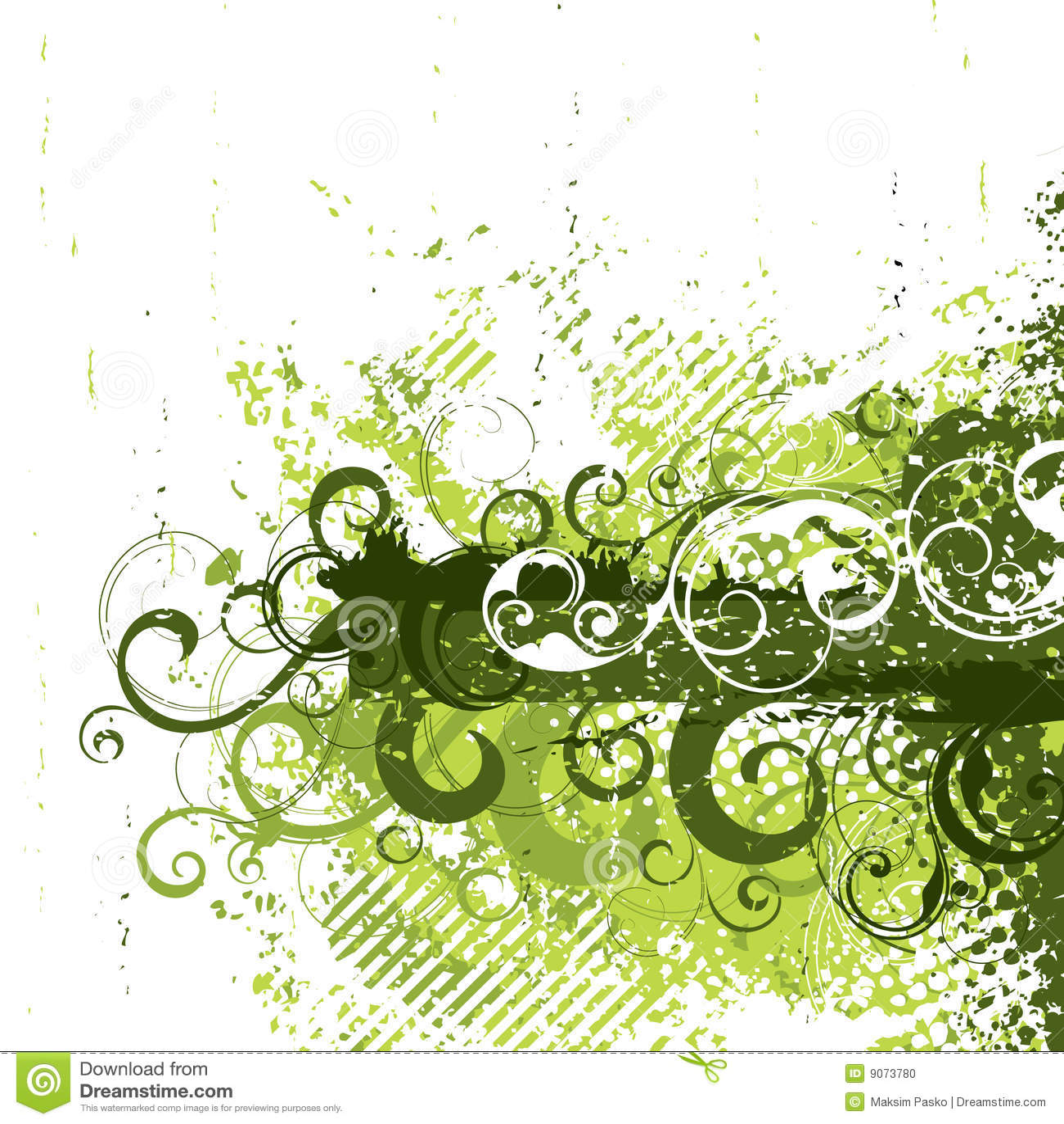 Retro zielony grunge