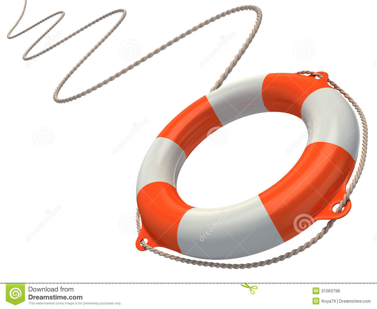 Life Ring And Rope Clipart