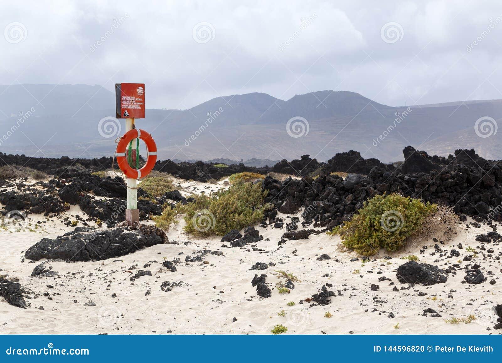 Rettungsring nahe der Küste von Lanzarote