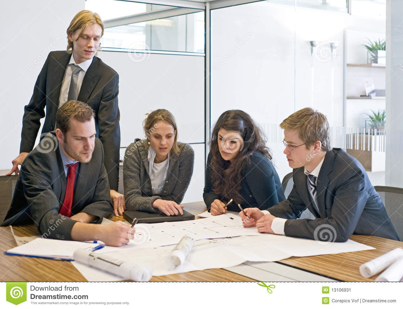 Reunião da equipe de projeto