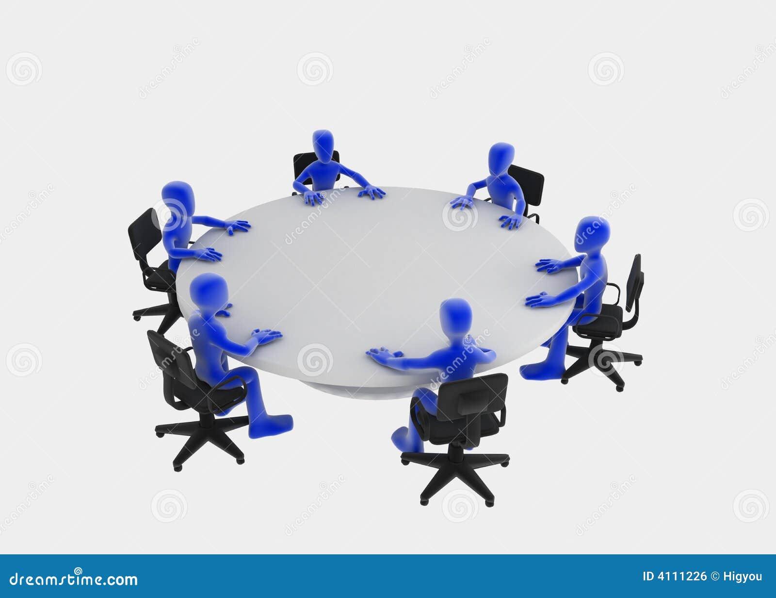 Reuni o de mesa redonda ilustra o stock ilustra o de - Mesa redonda 4 personas ...