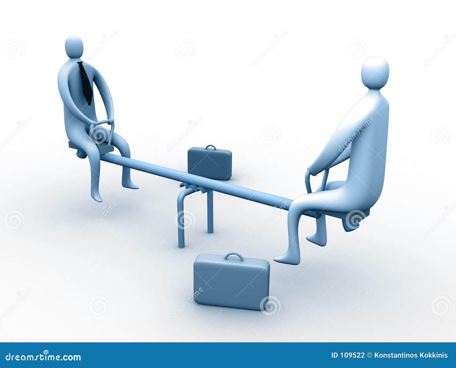 Reunião de negócio engraçado