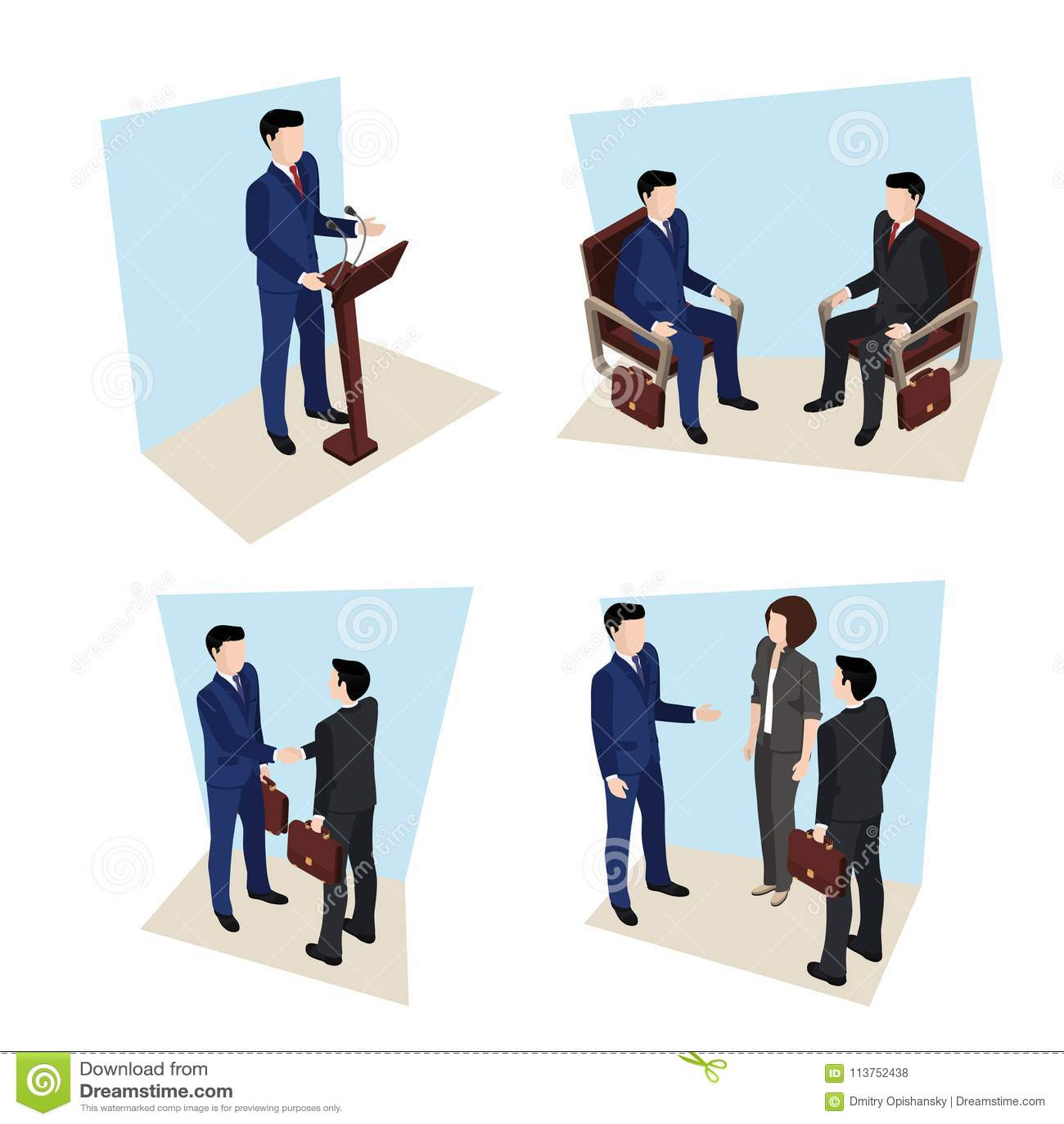 Reunião de negócios, pessoa em ternos de negócio