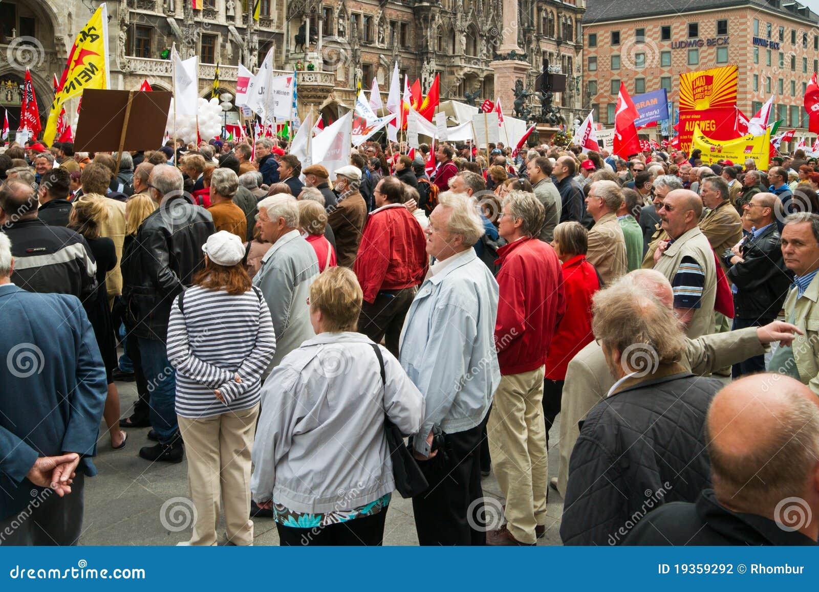 Reunião do dia Labour em Munich