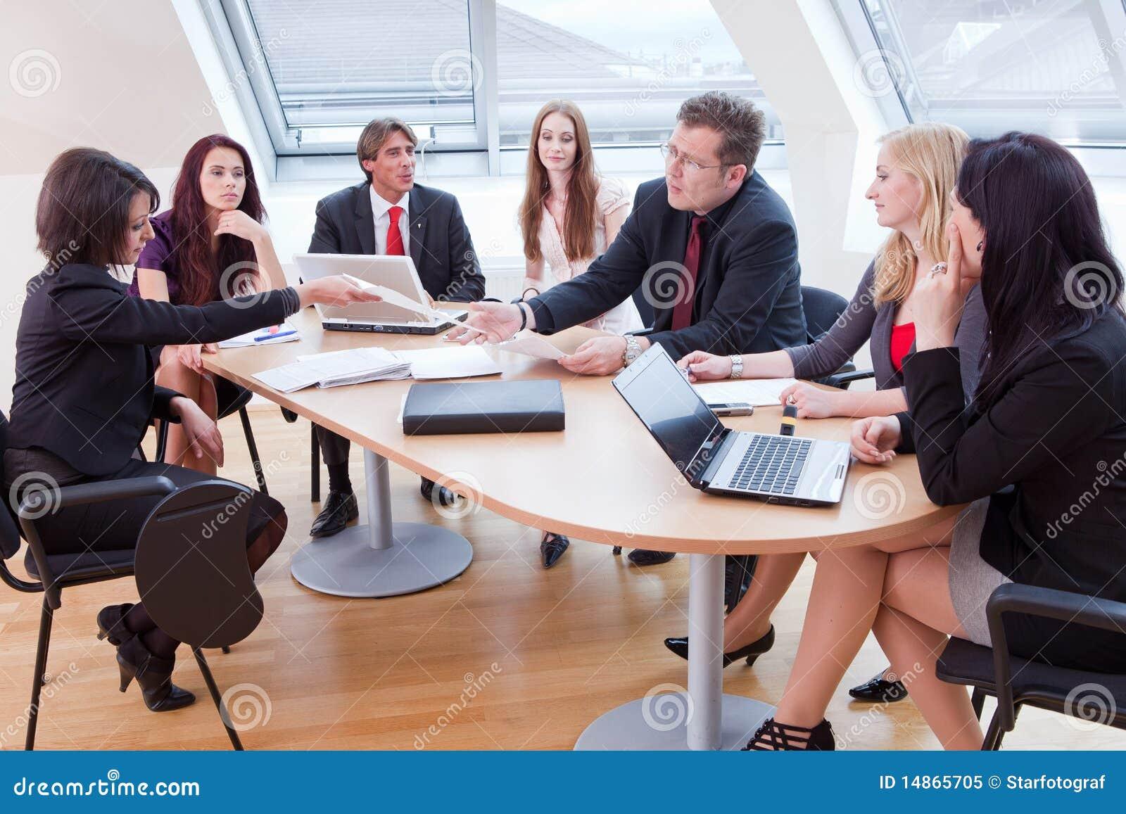 Reunião do grande negócio