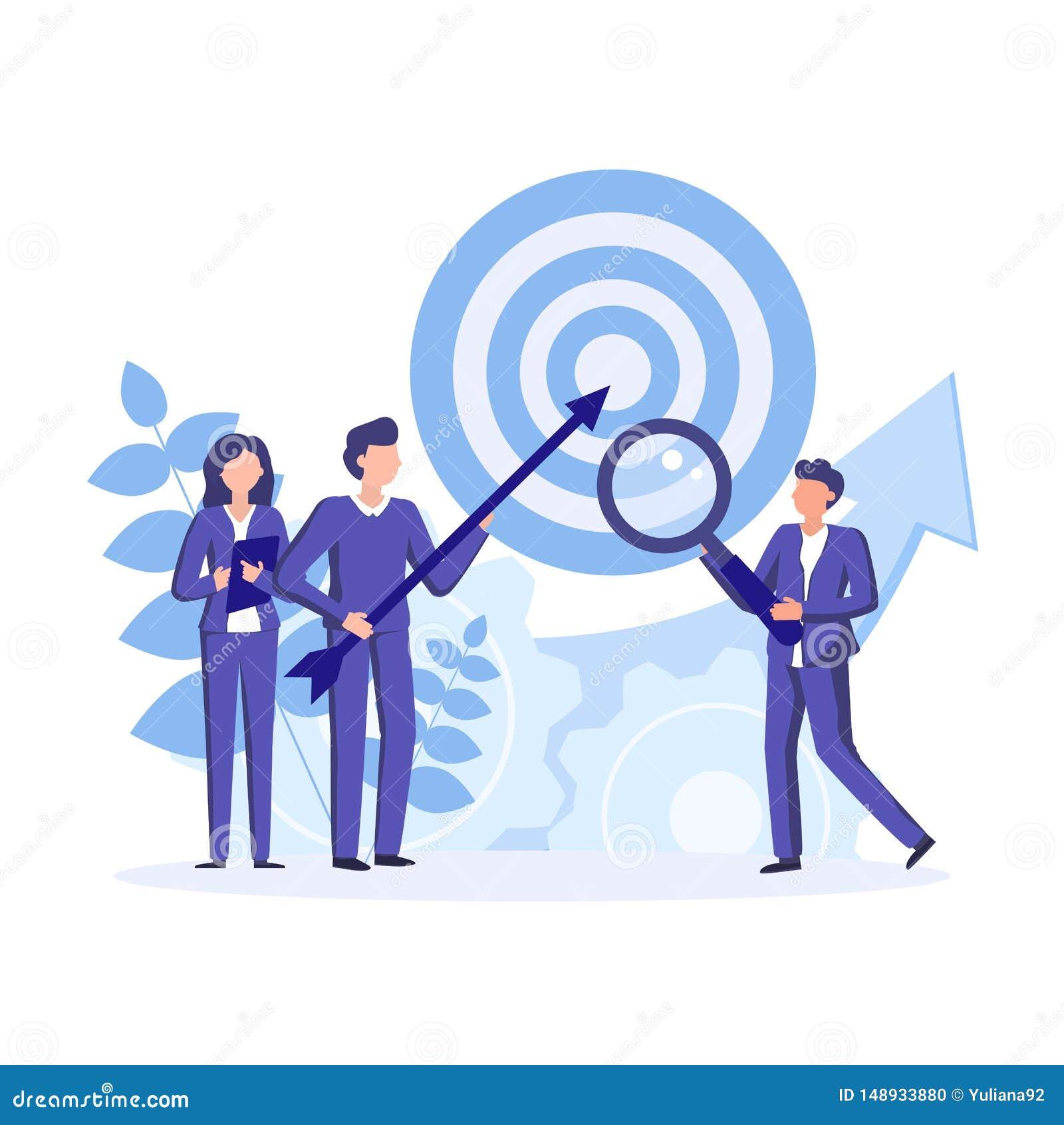 Reunião e tornar-se da equipe estratégicas da empresa Encontro e clique de executivos para o planeamento do investimento da finan