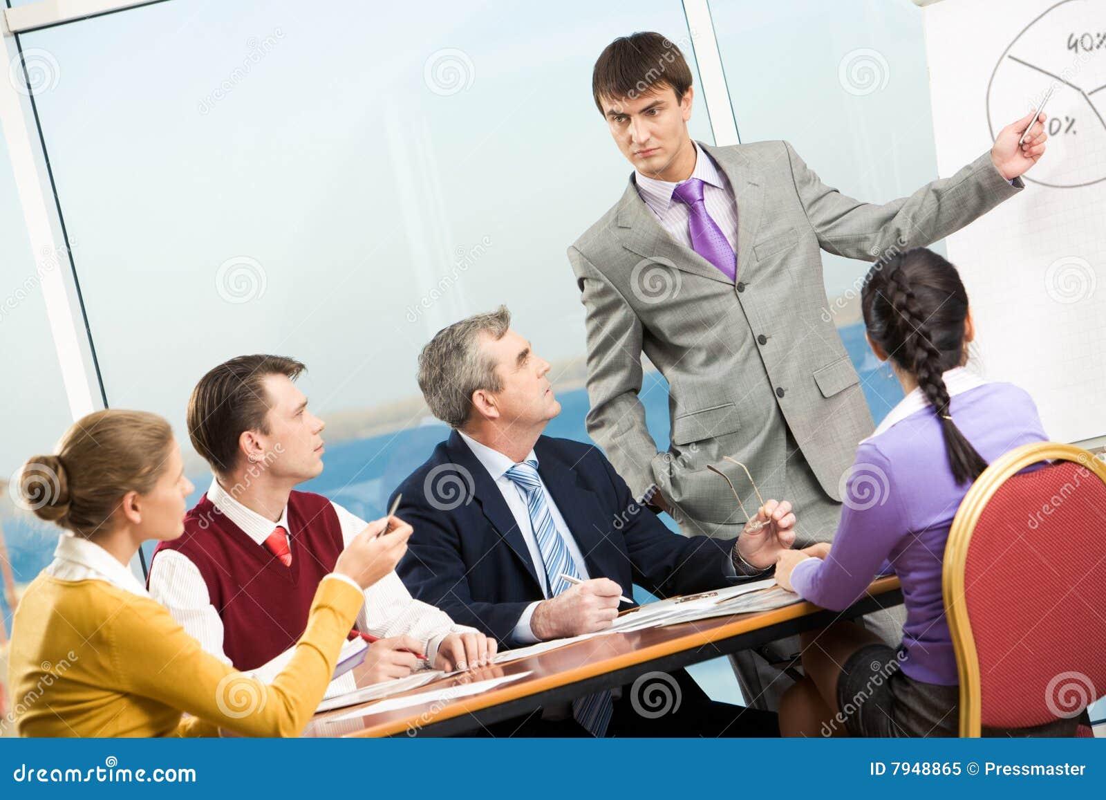 Reunião séria