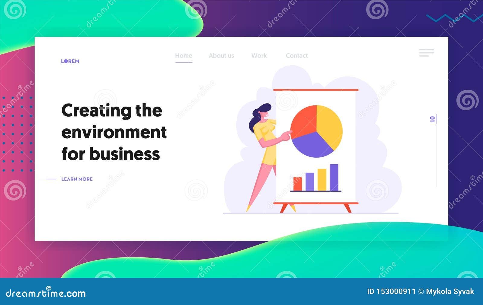 Reunión de negocios, presentación del proyecto, coche Pointing del negocio de la mujer en estadísticas financieras del análisis d