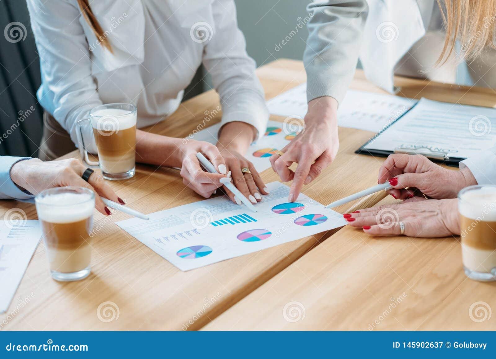 Reunión del desarrollo de proyecto del análisis de negocio