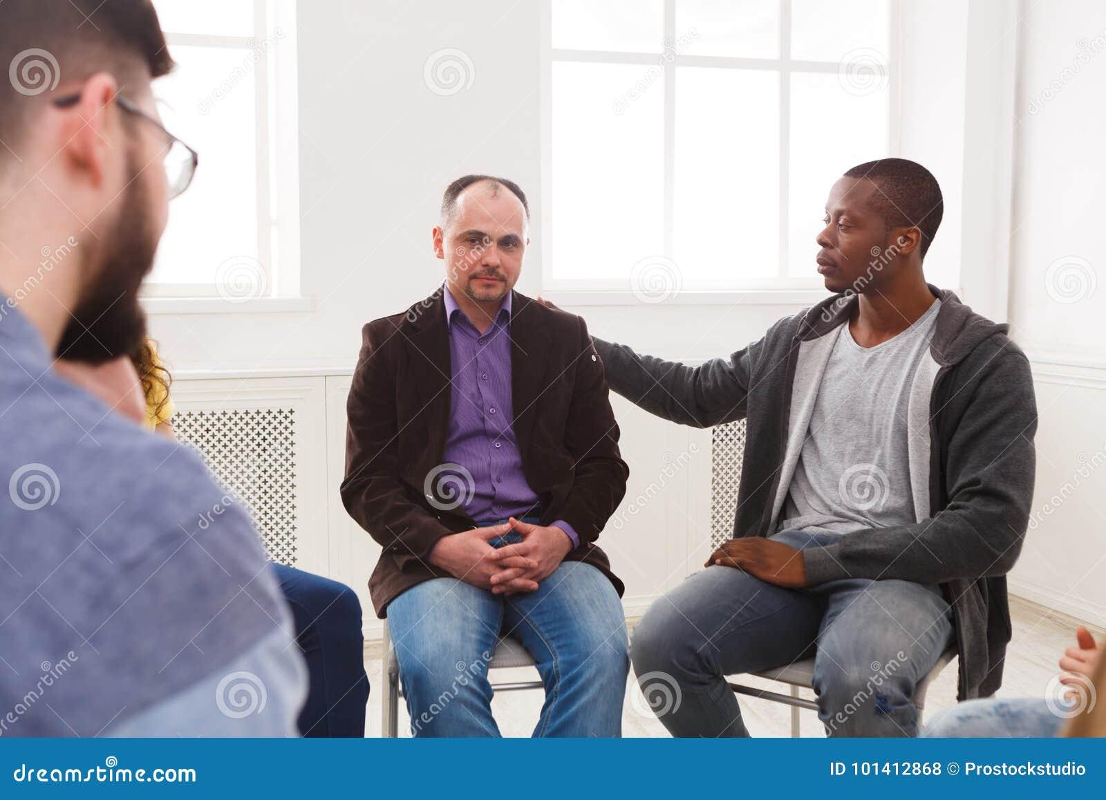 Reunión del grupo de ayuda, sesión de terapia