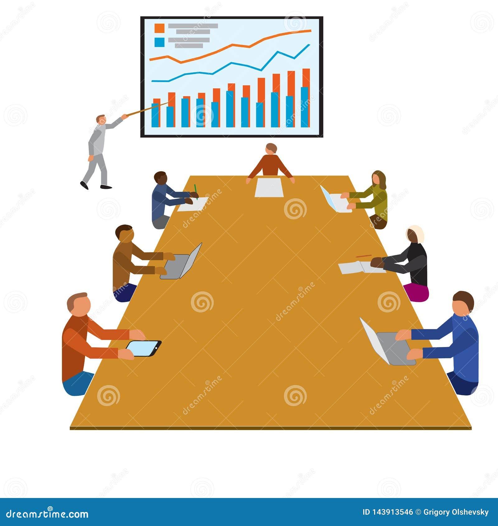 Reunión del taller del trabajo en equipo, equipos de los oficinistas