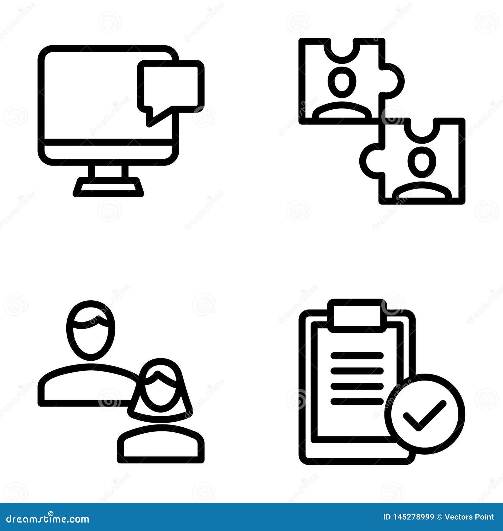 Reunión, sistema sólido de los iconos del lugar de trabajo