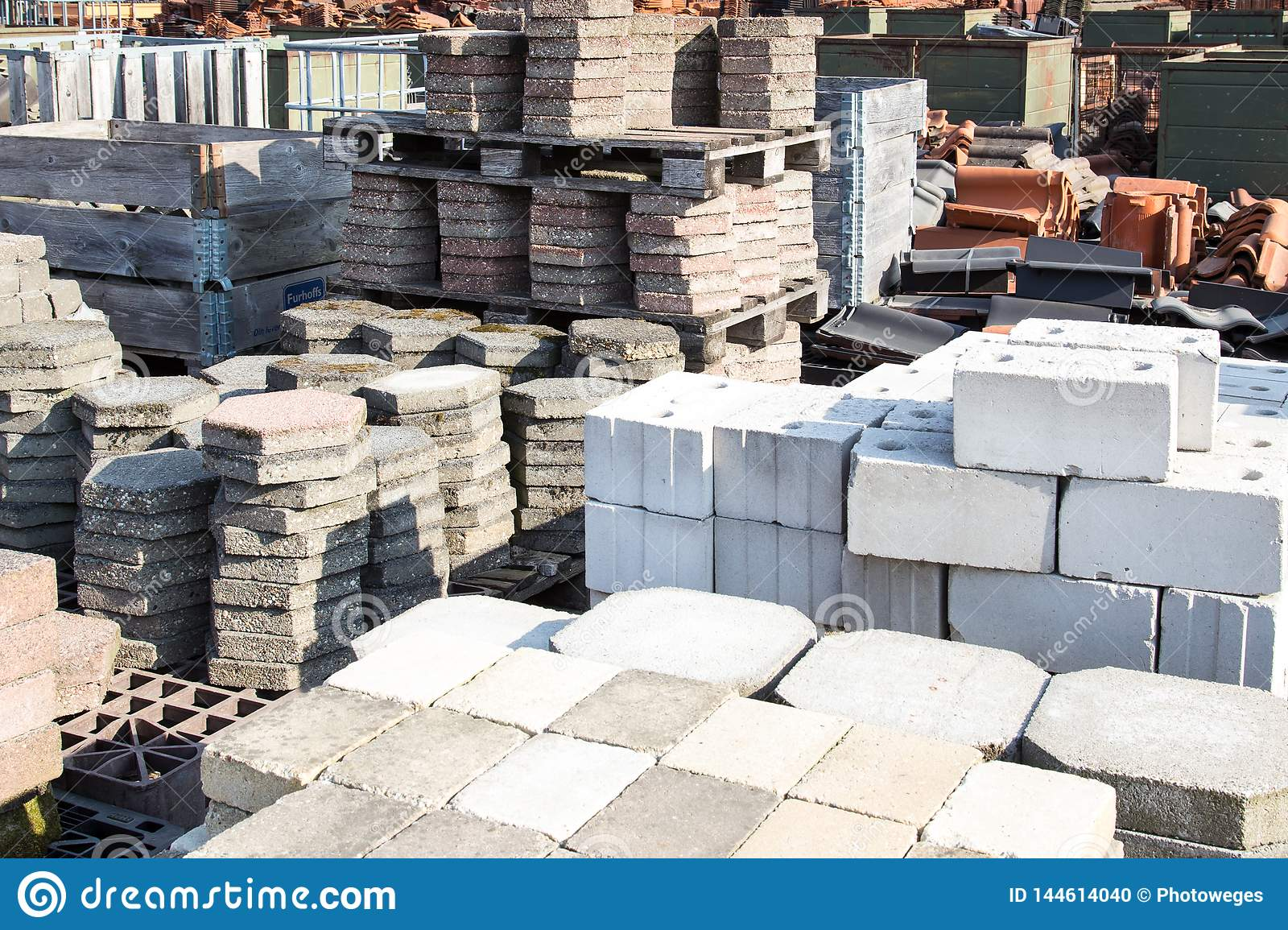 Reusable Building Material For Sale Stock Photo - Image of