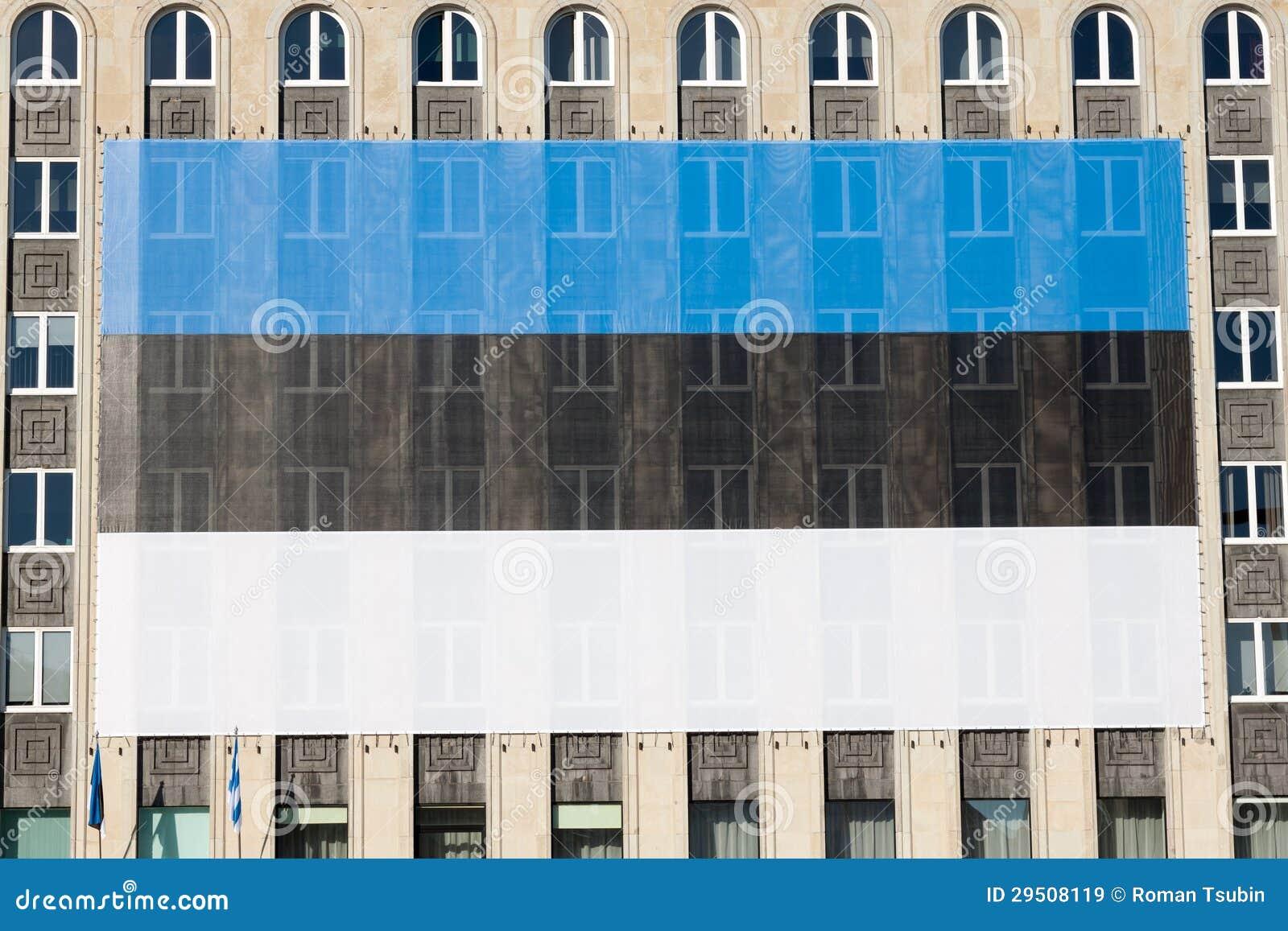 Reusachtige Estlandse vlag