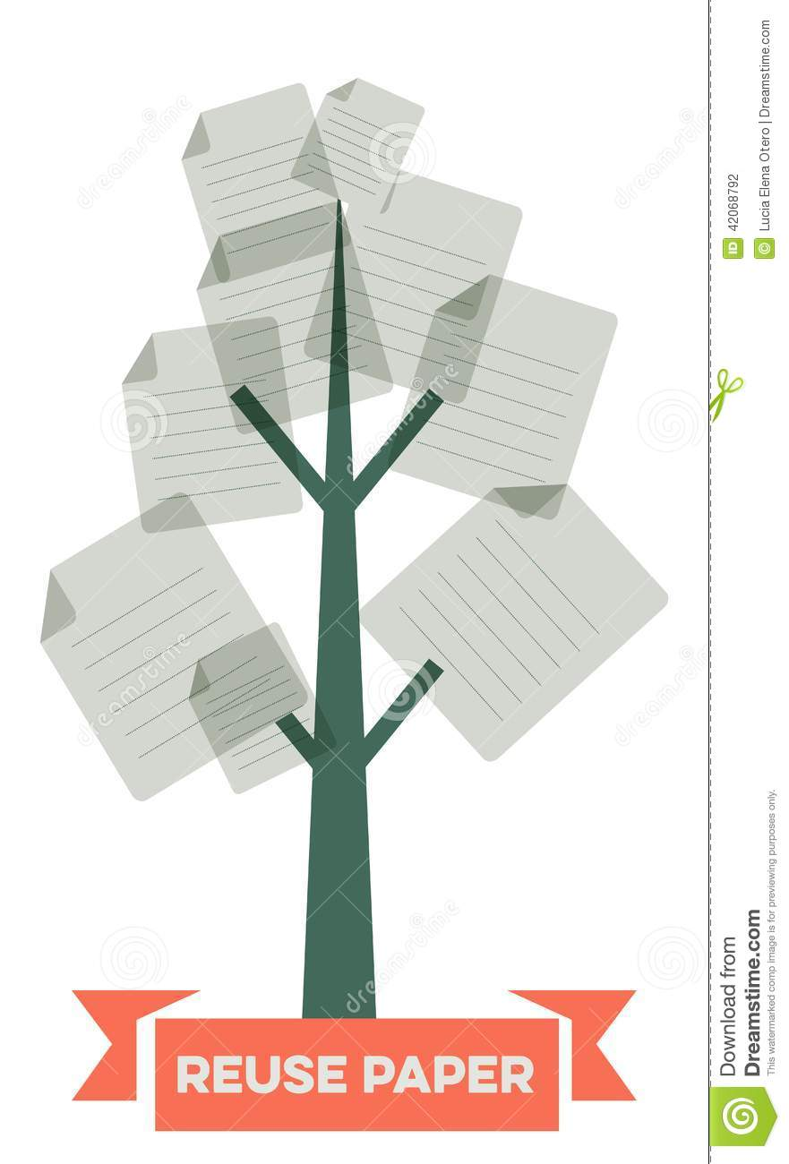 Reuse Paper Stock Vector Image 42068792