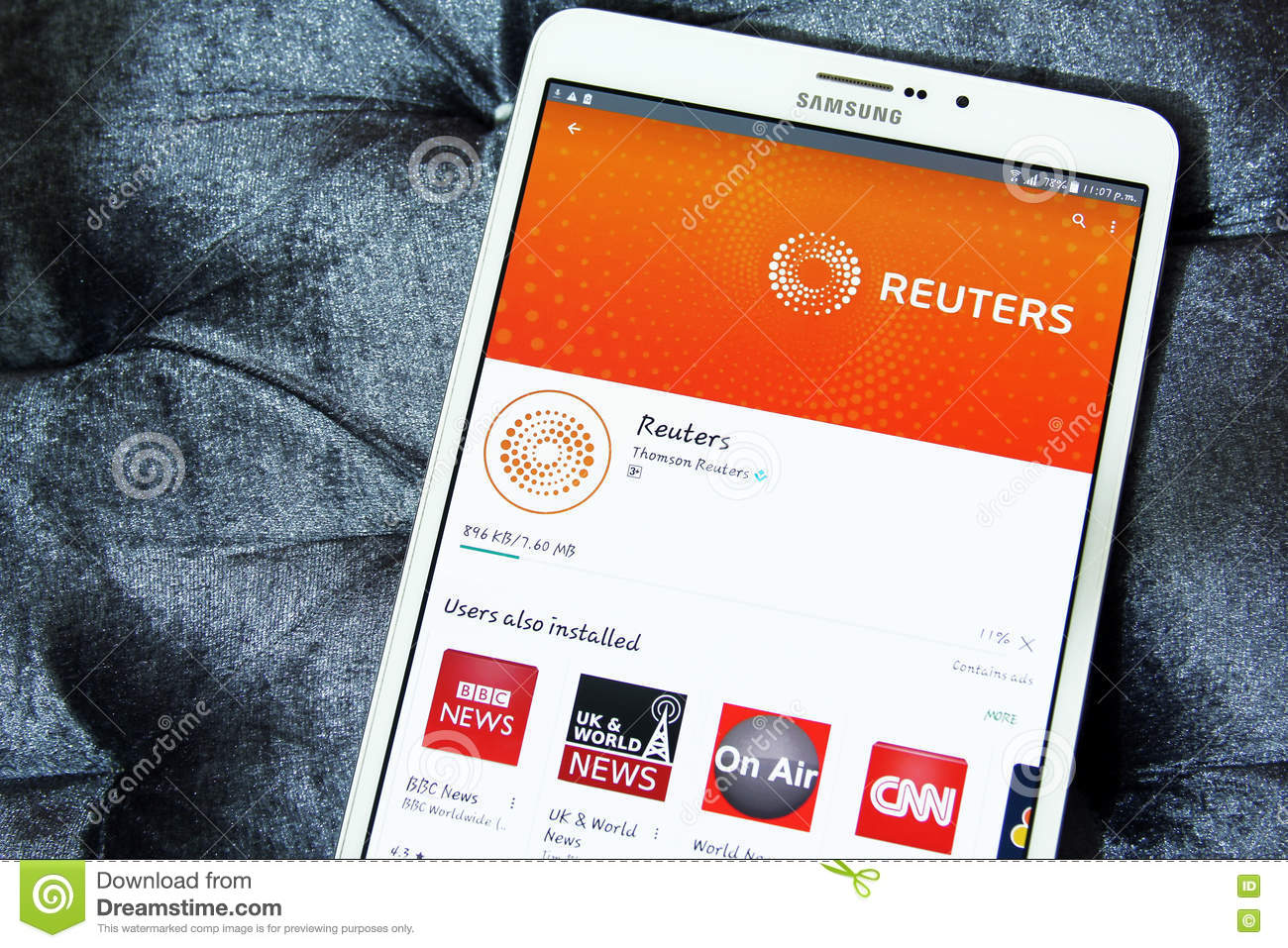 Reuters App On Google Play Store Editorial Photography